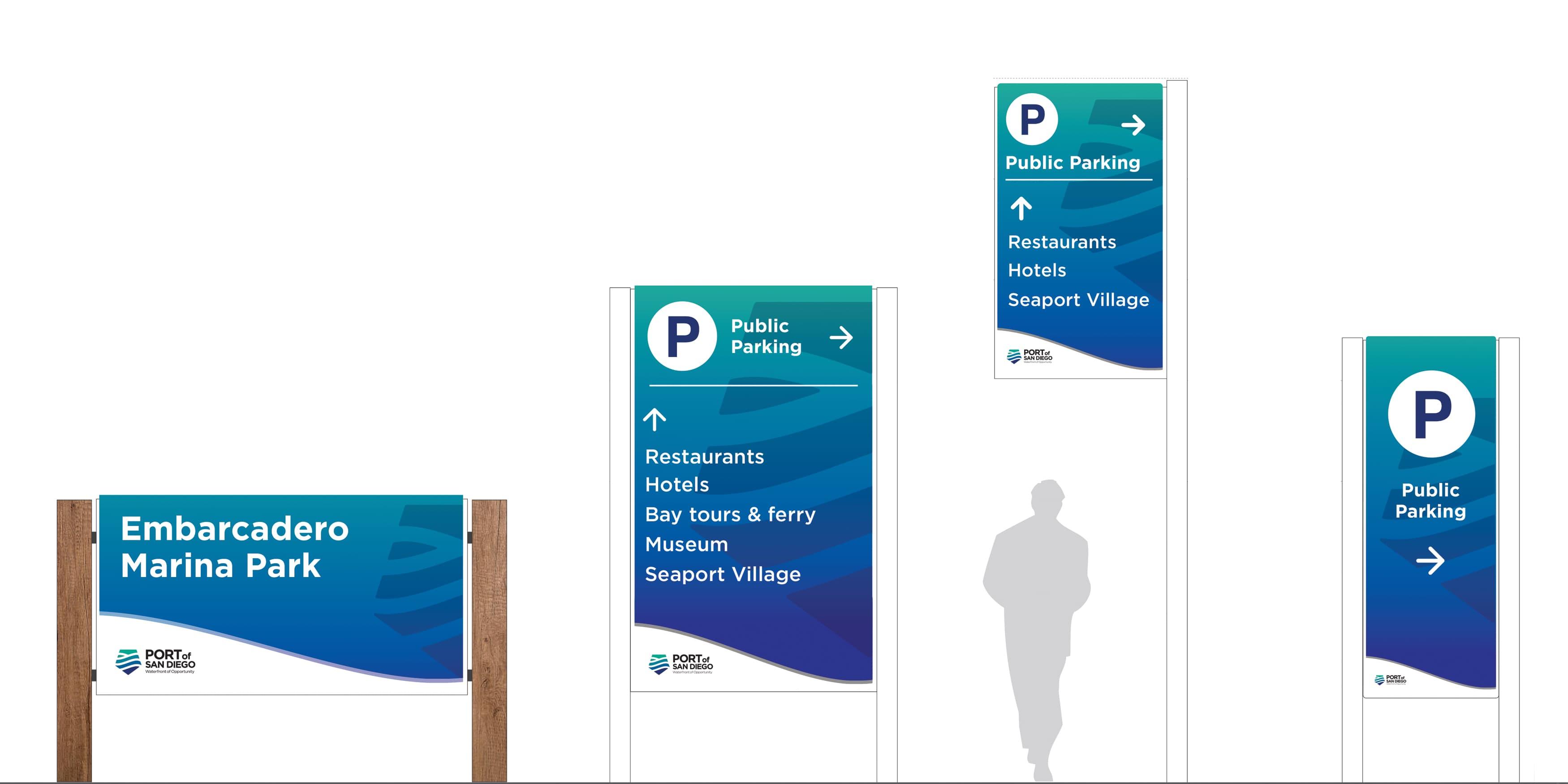 Port of San Diego waterfront wayfinding signage design