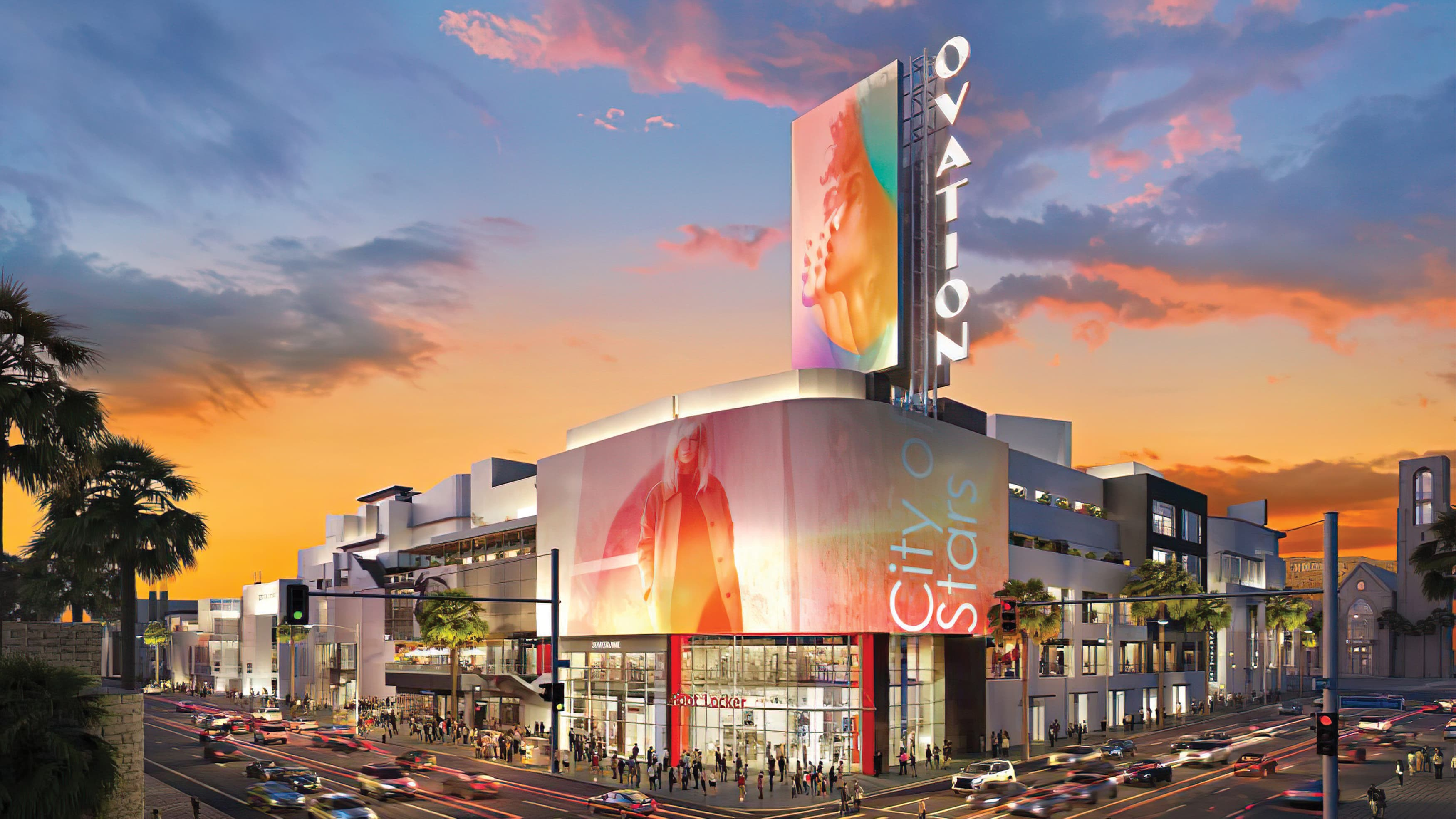 Architectural rendering of Ovation Hollywood project located in Los Angeles.