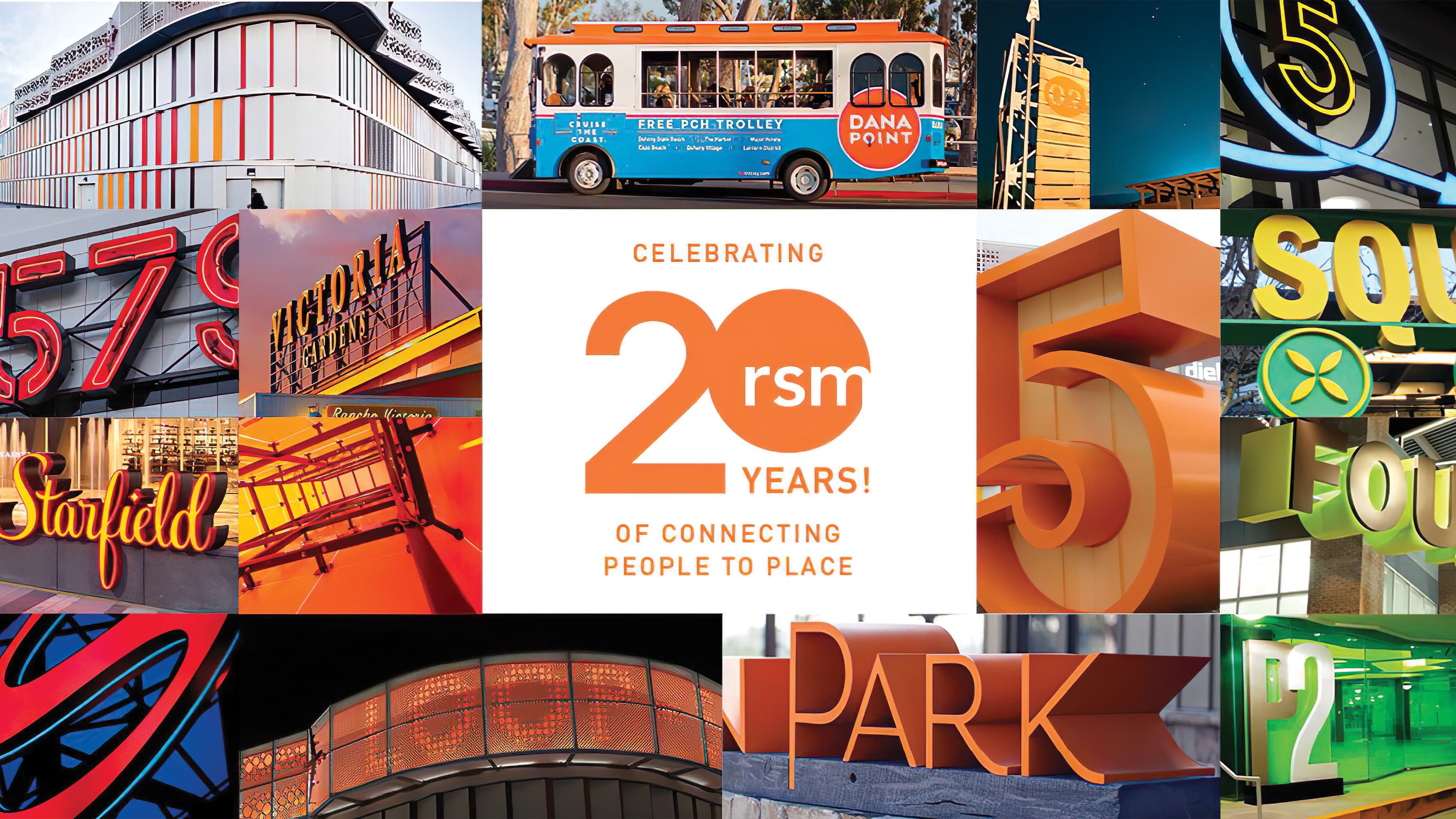 """""""RSM Design Celebrates 20 Years!"""" and some of the noteworthy projects RSM has worked on over the years."""