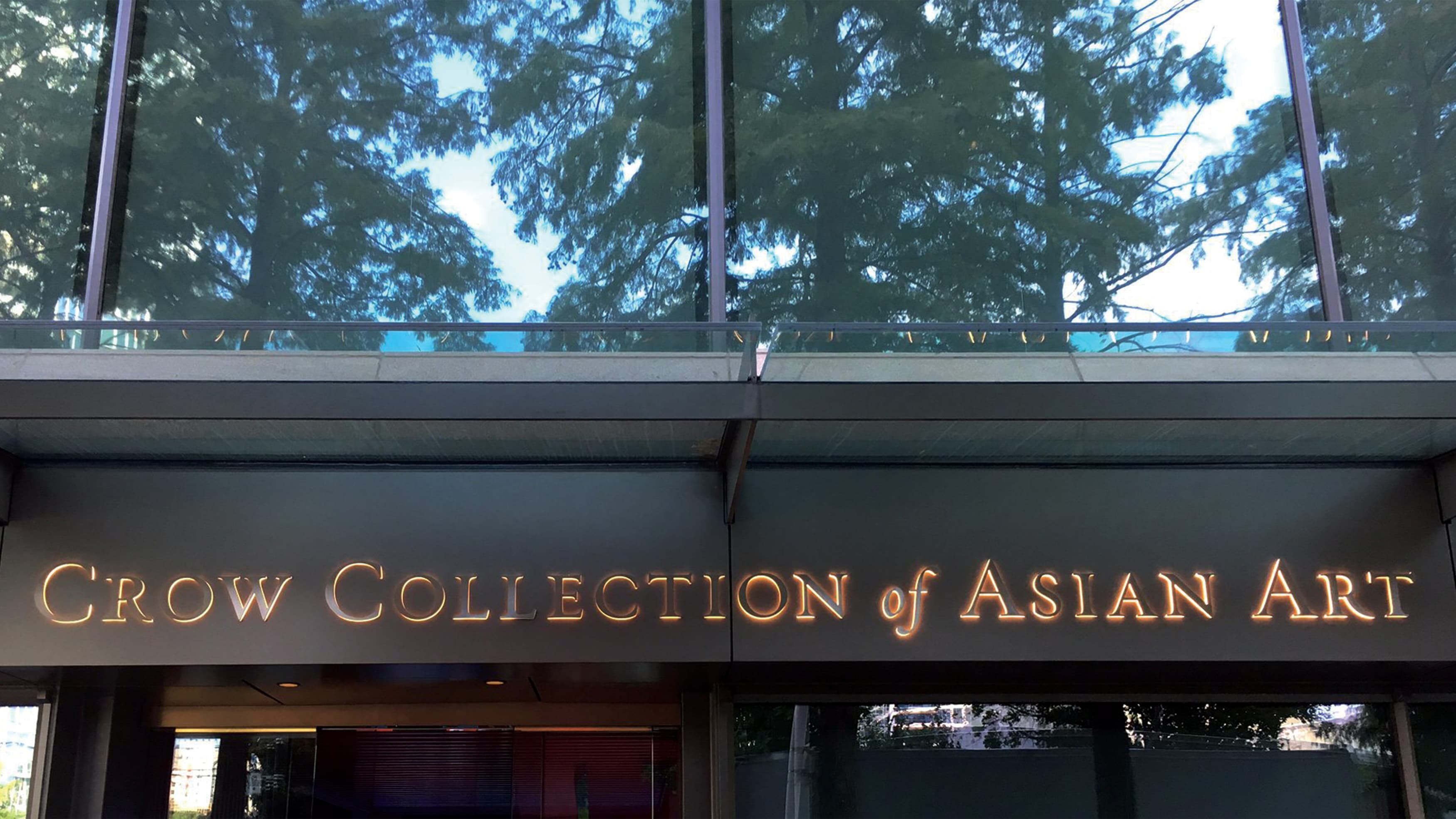The Crow Collection of Asian Art New Exterior Signage
