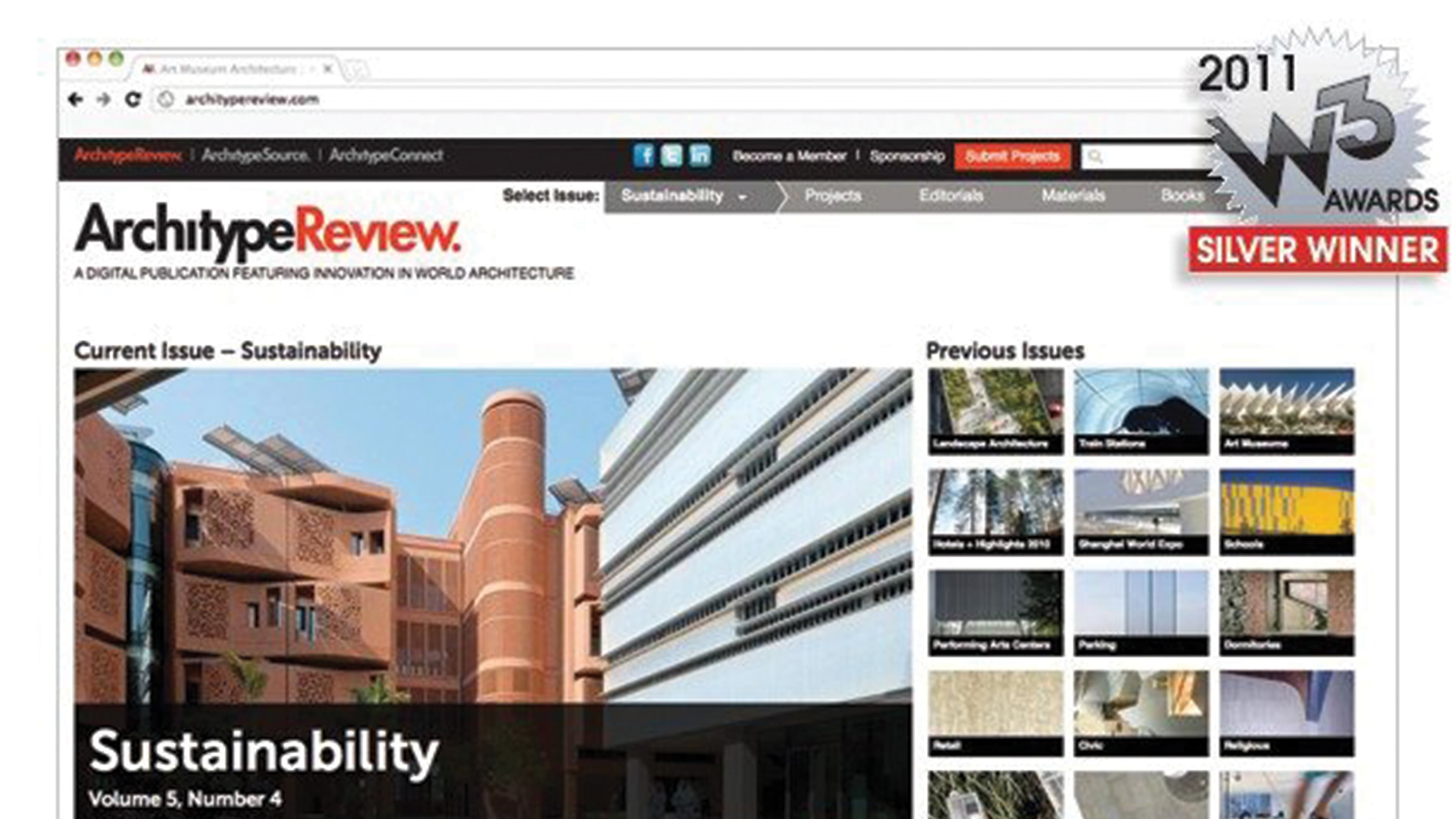 RSM Design collaborated with LJG partners to re-design Architype's website, which went on to win a silver design award for the 2011 W3 Awards.