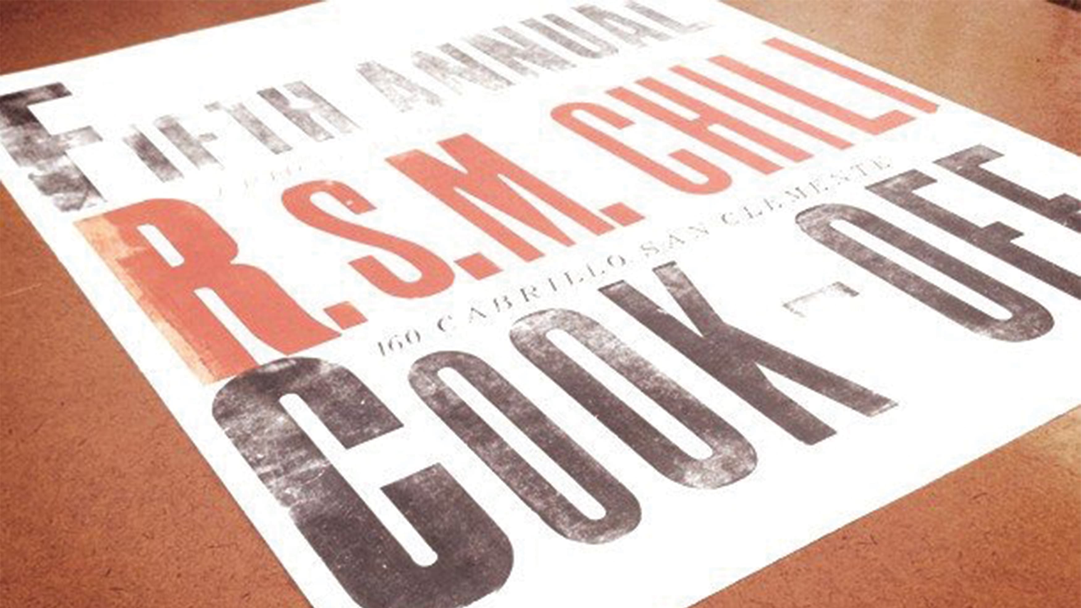 RSM Design's poster for the 5th Annual Chili Cook Off