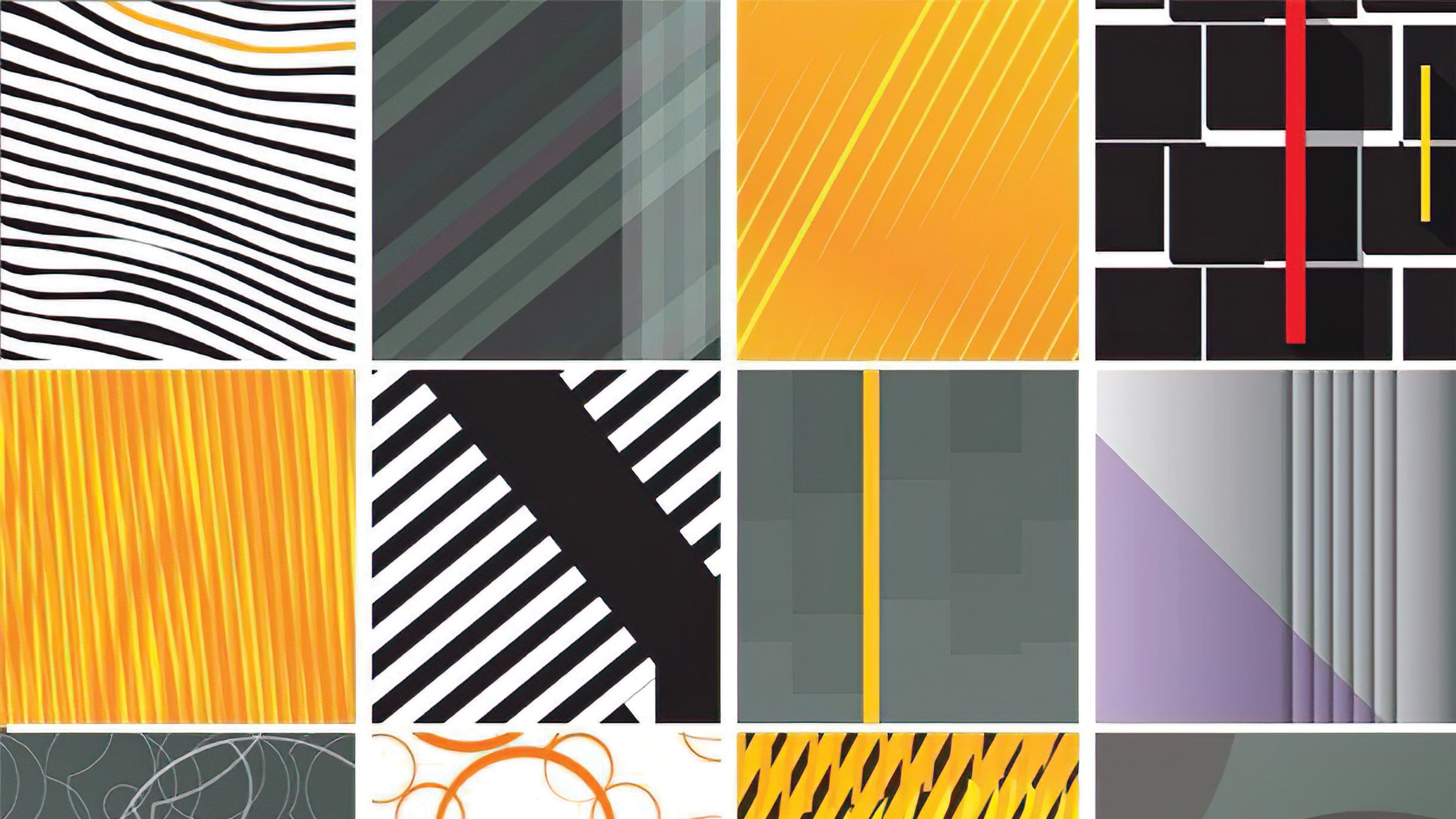 A collage of various colored patterns prepared for a project in Solingen.