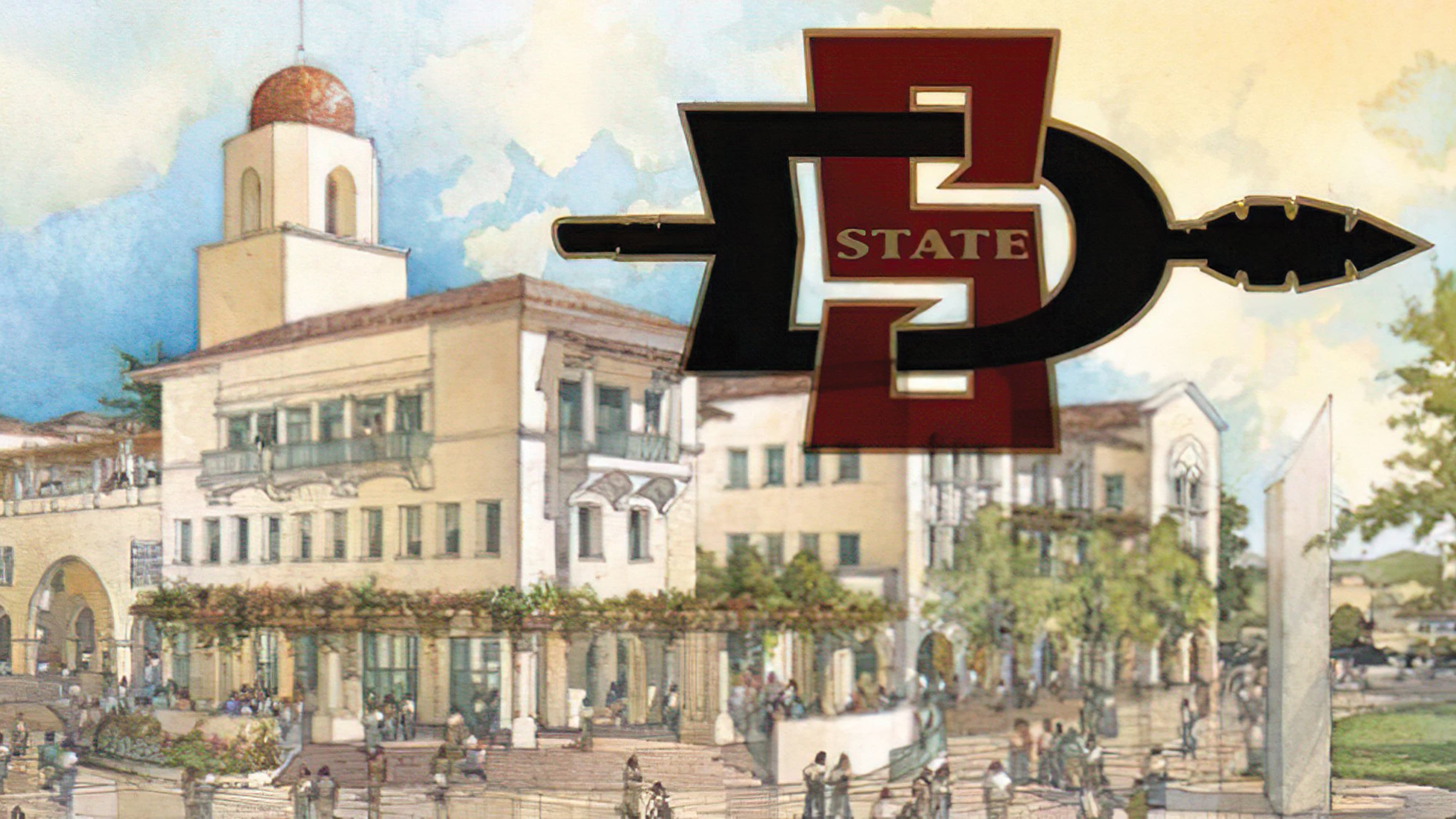 Architectural drawing of the new SDSU Student Union