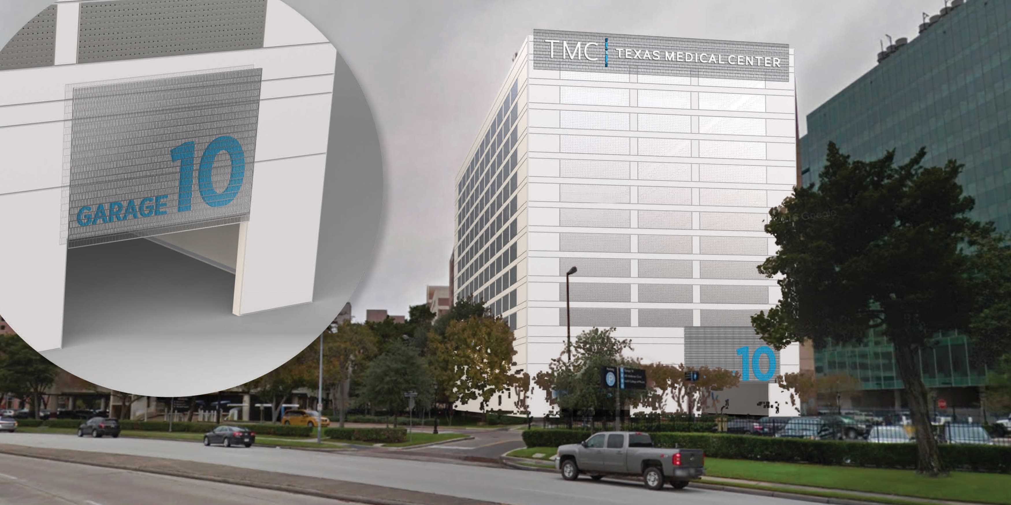 Texas Medical Center, located in Houston, Texas. Urban Design. Healthcare Design. Civic Design. Wayfinding Design.