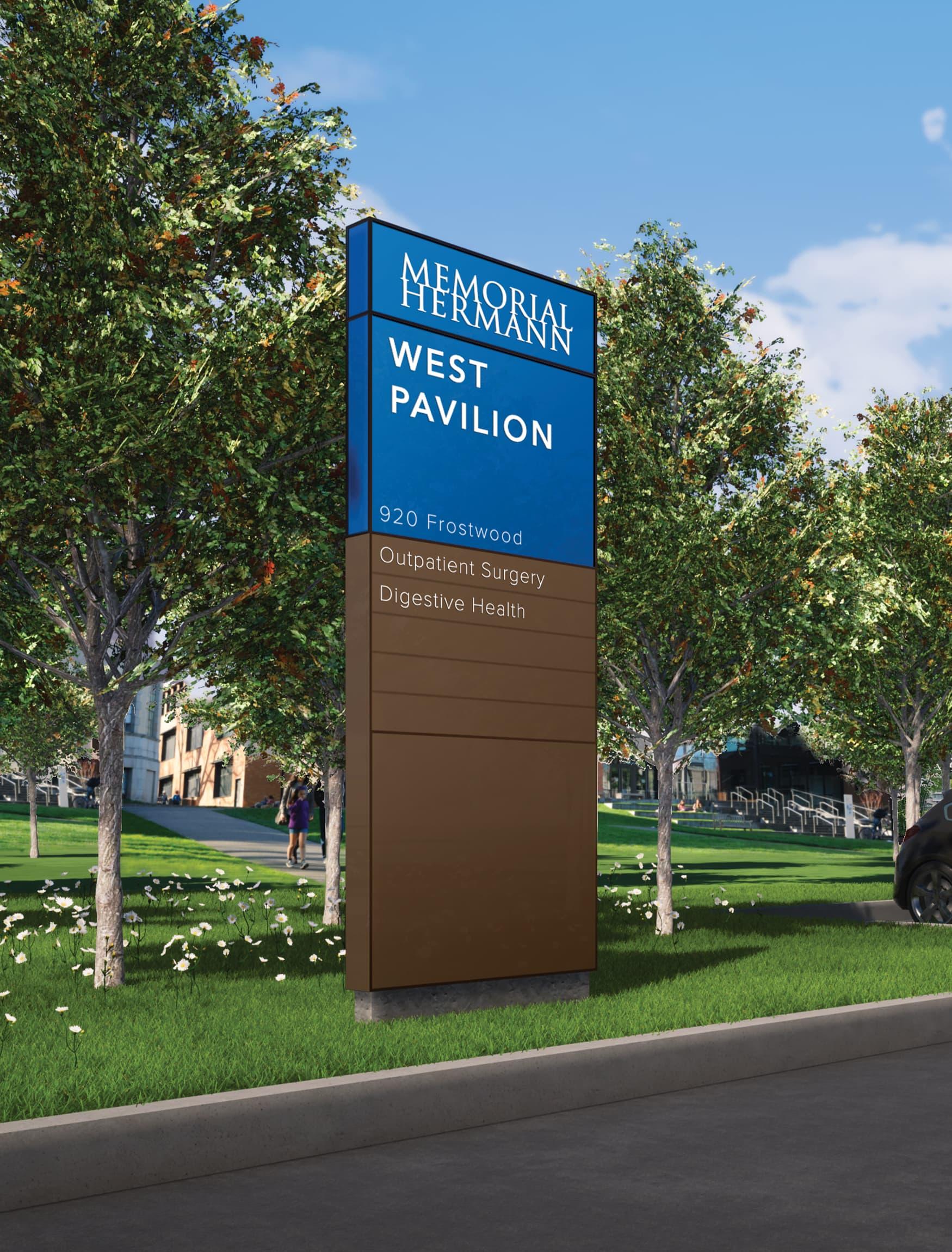 Memorial Hermann Hospital, located in Houston, Texas. Healthcare Design. Wayfinding Design. Urban Design.