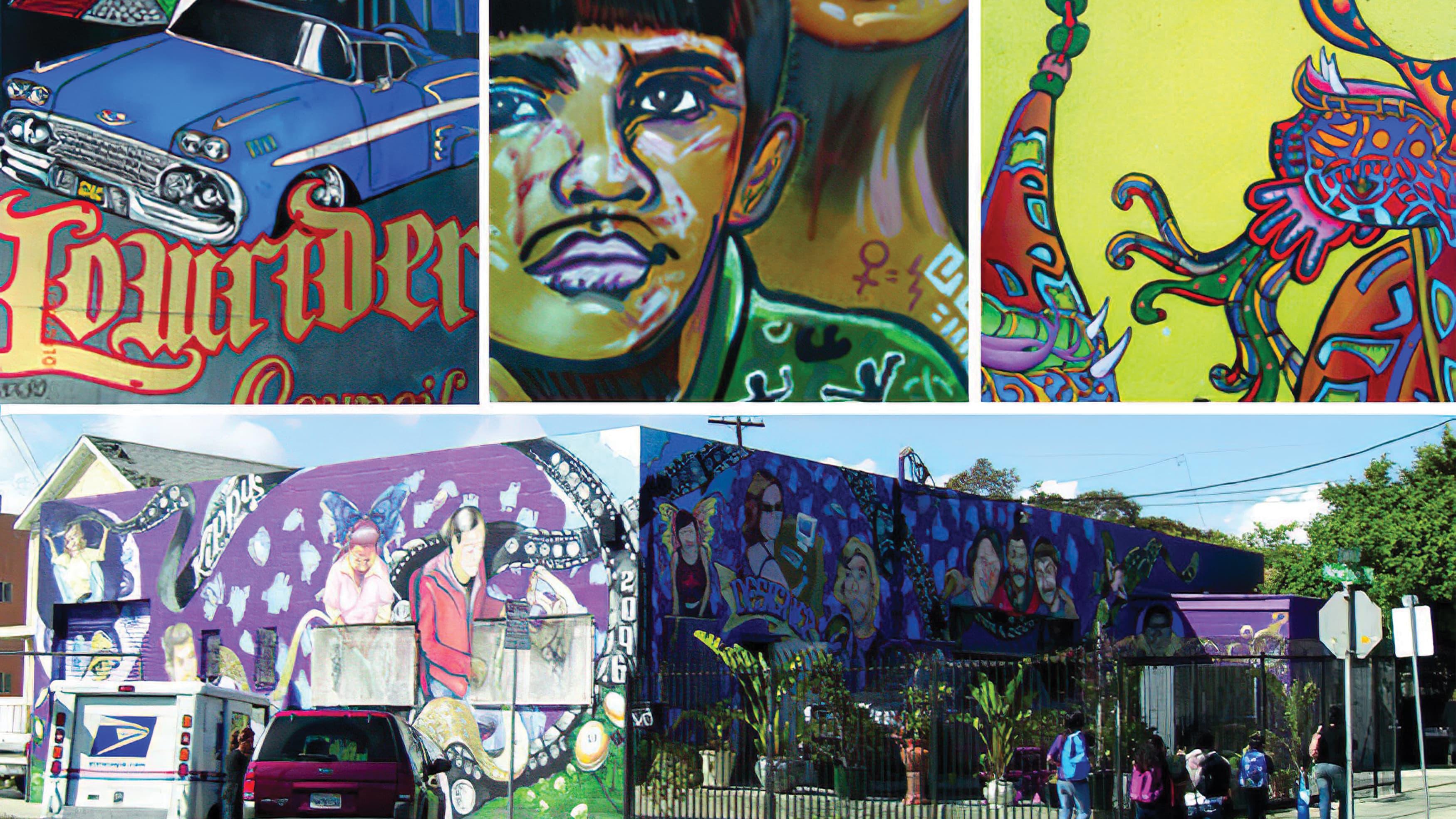 Collage of images taken around Barrio Logan, a neighborhood in San Diego