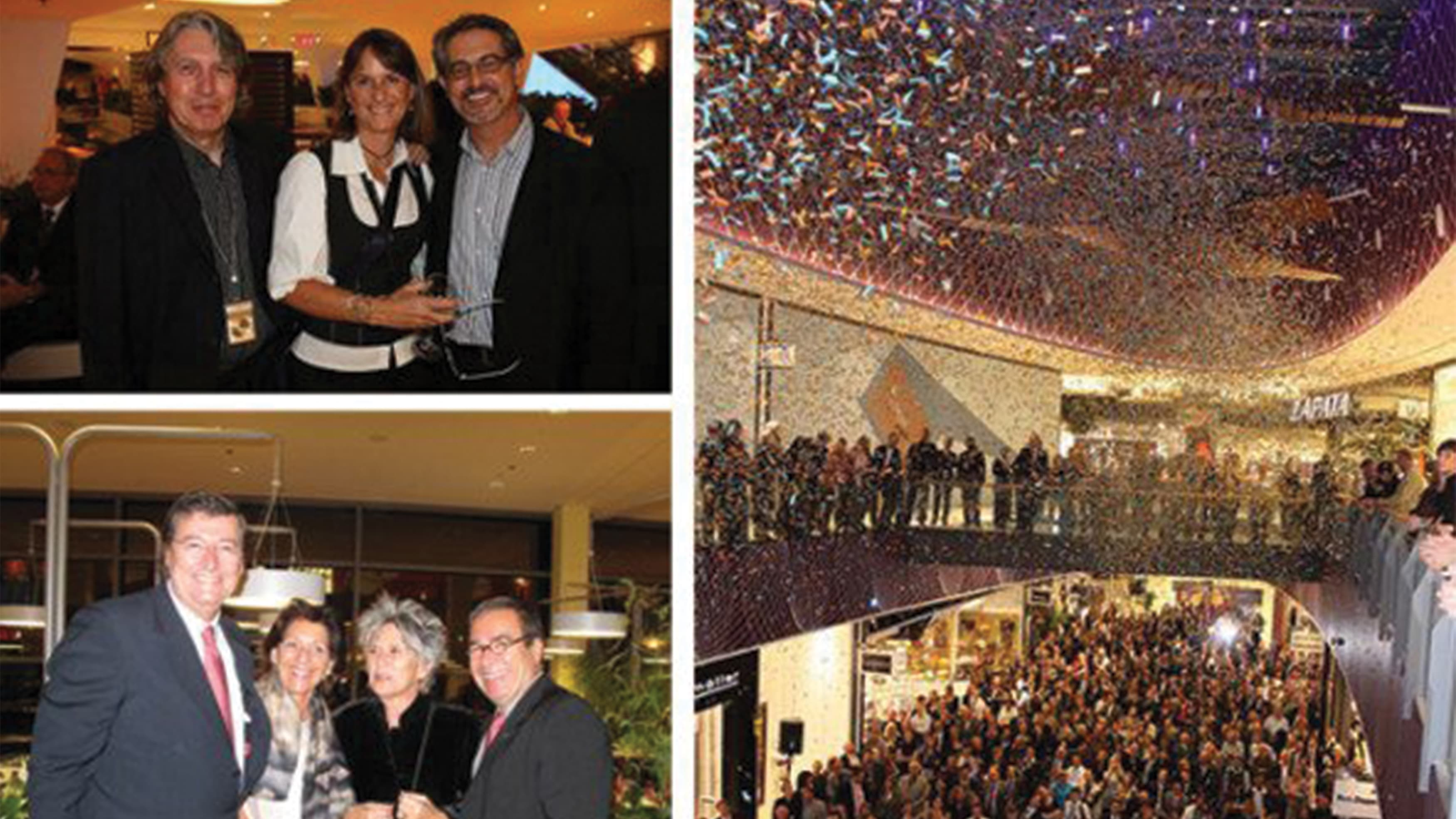 Collage of images from the opening night at Loop 5 in Germany.