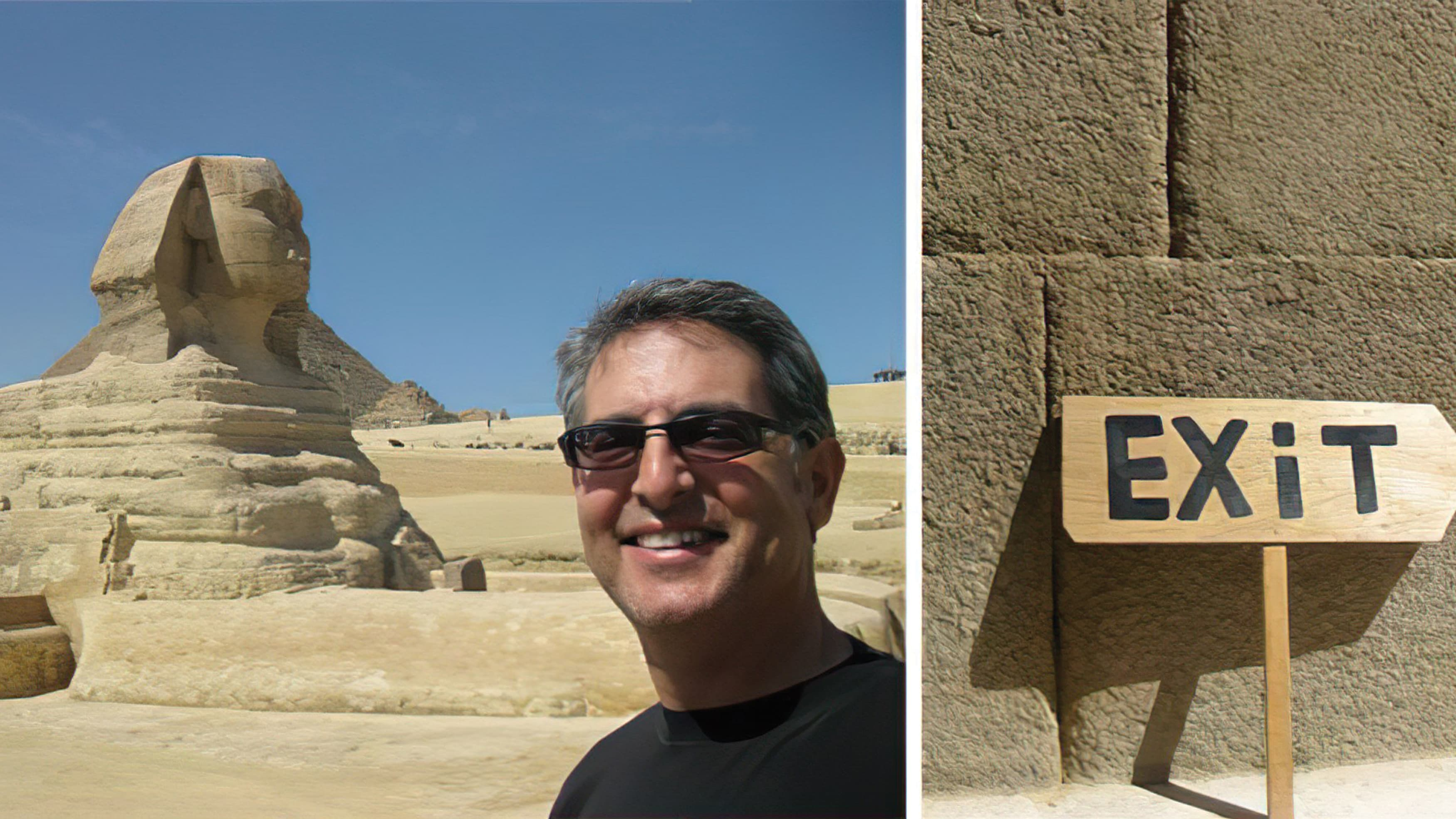 Martin Schwartz in front of the Great Sphinx in Giza