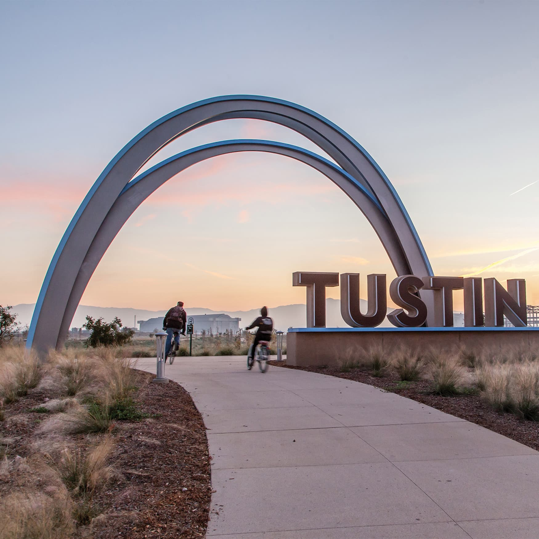 The arch at Tustin Legacy, designed by RSM Design.