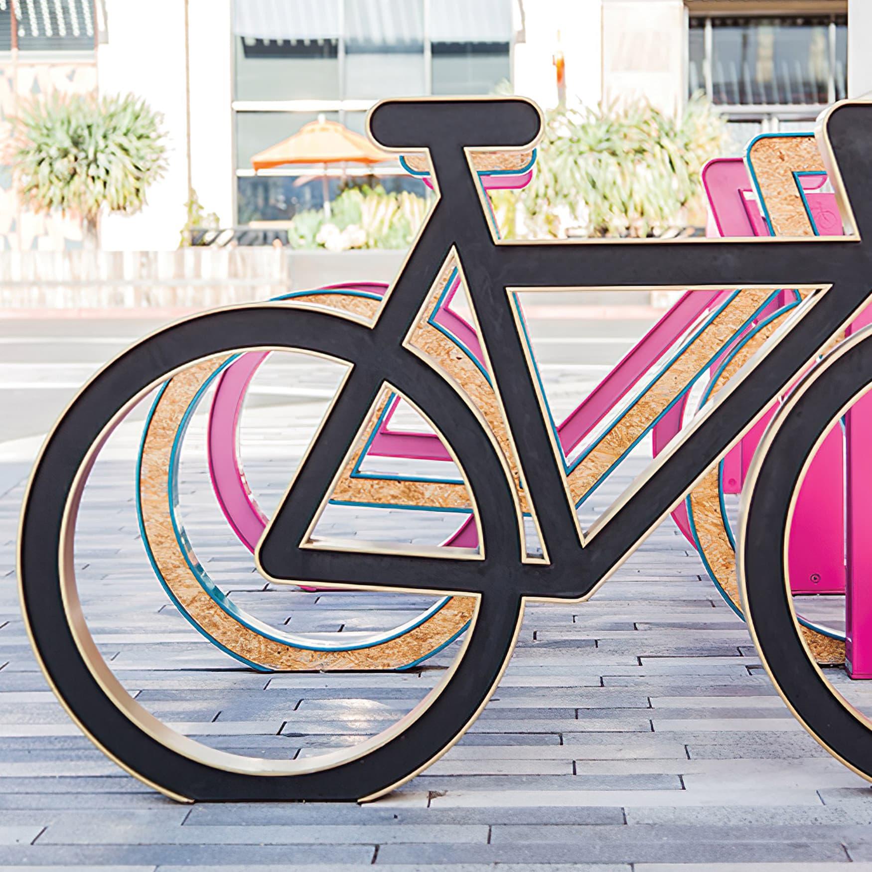 Custom and unique bike racks at Monet Avenue in Rancho Cucamonga