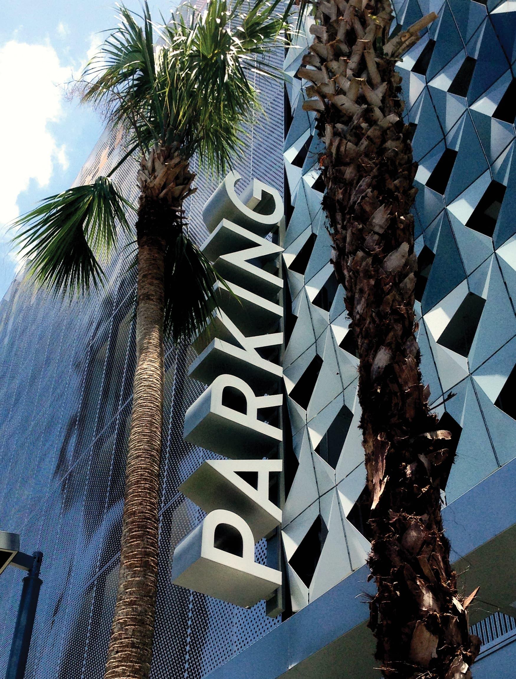 Miami Design District parking signage
