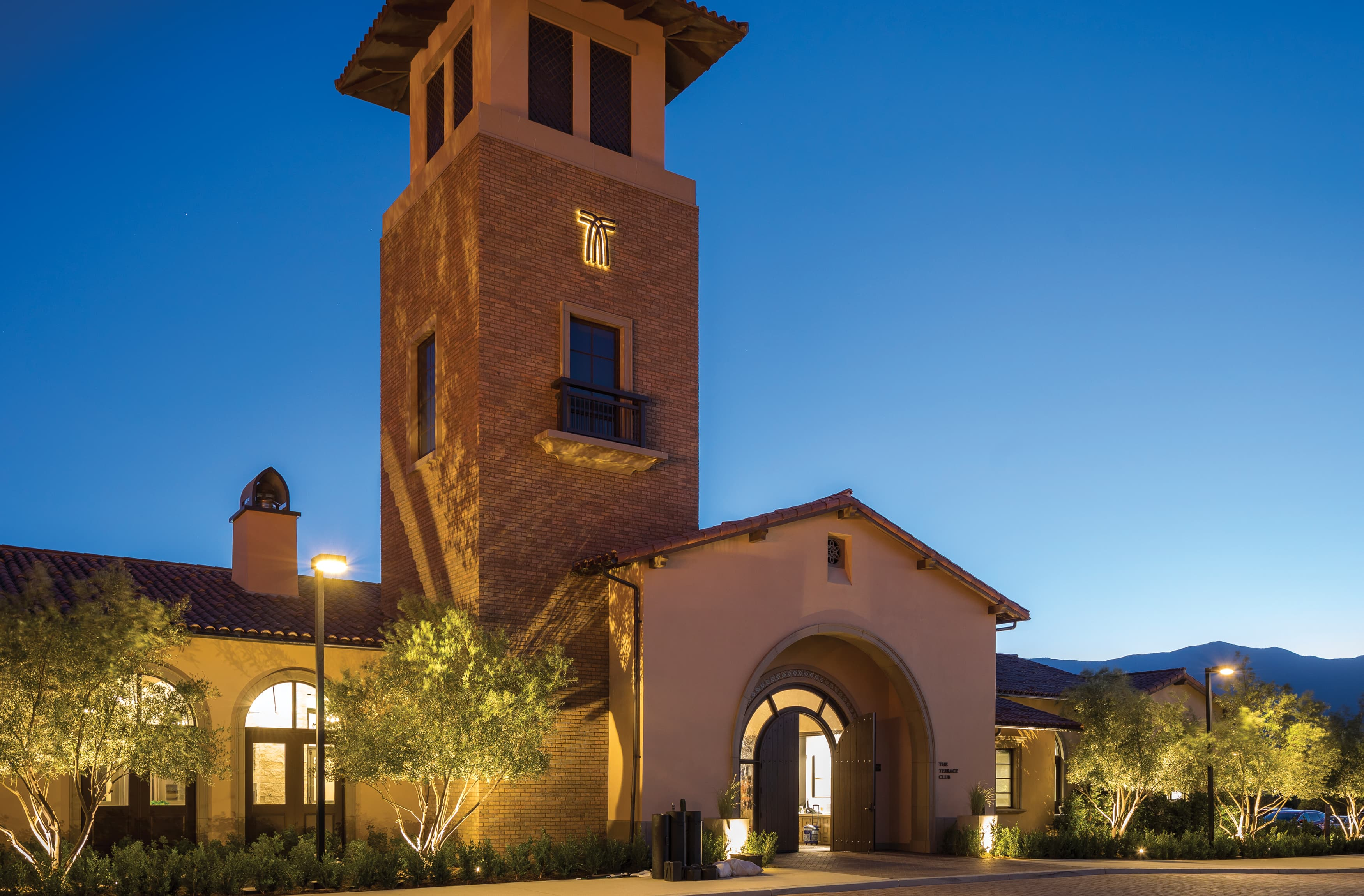 Terramor, a residential community in Corona, California. RSM Design. Illuminated Project Identity.