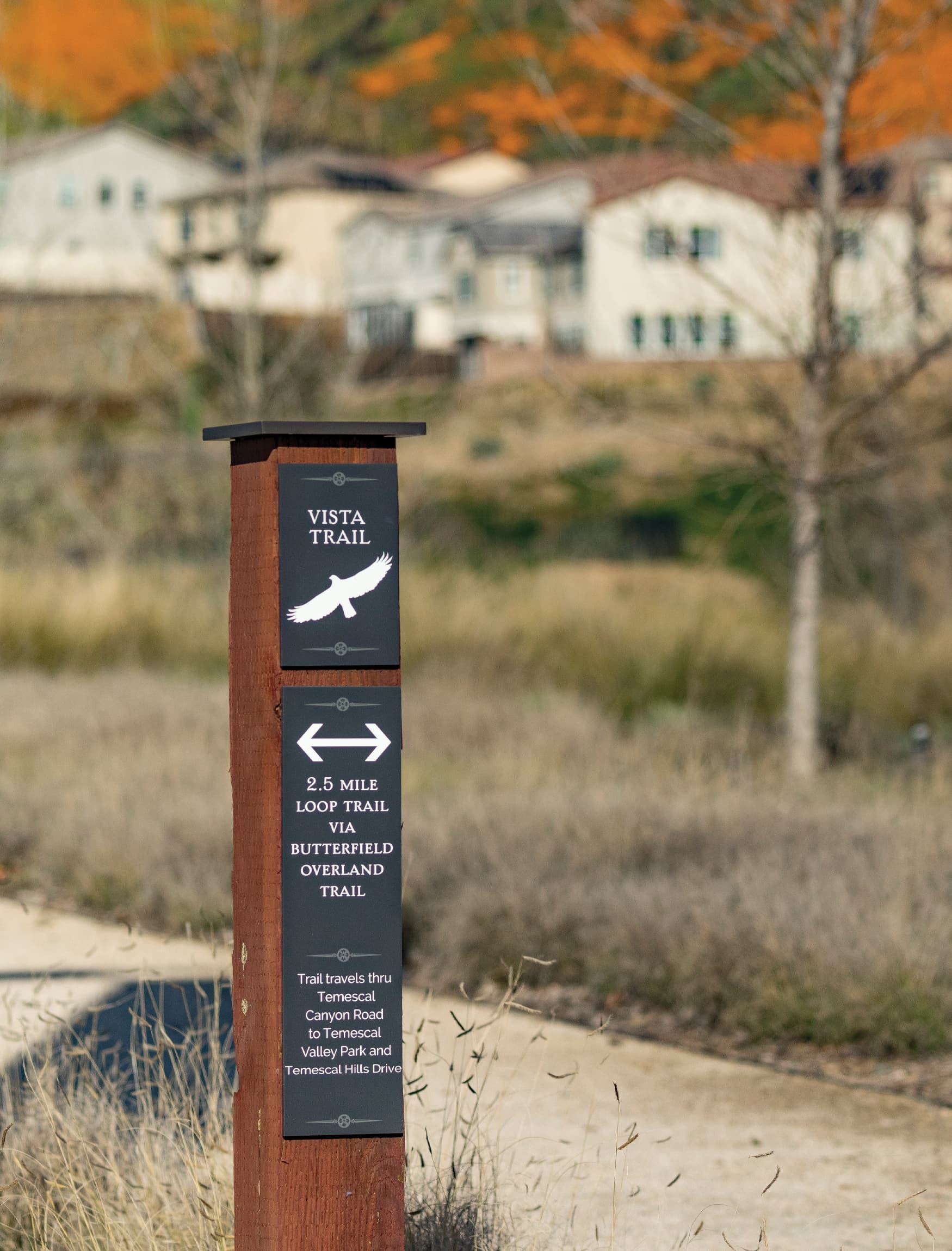 Terramor, a residential community in Corona, California. RSM Design. Trail Signage Design.