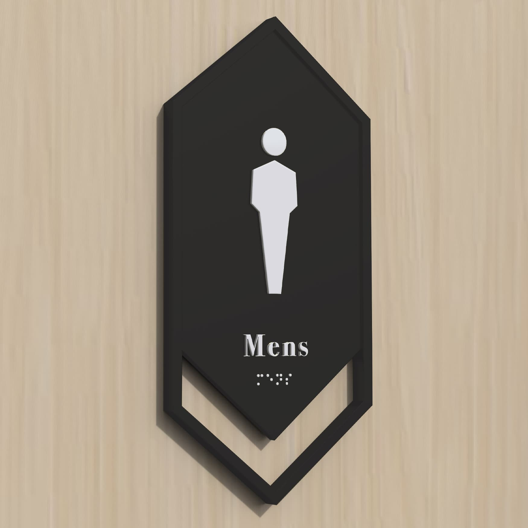 One22One, a mixed-use and workplace project in  Nashville, Tennessee. Restroom plaque design.