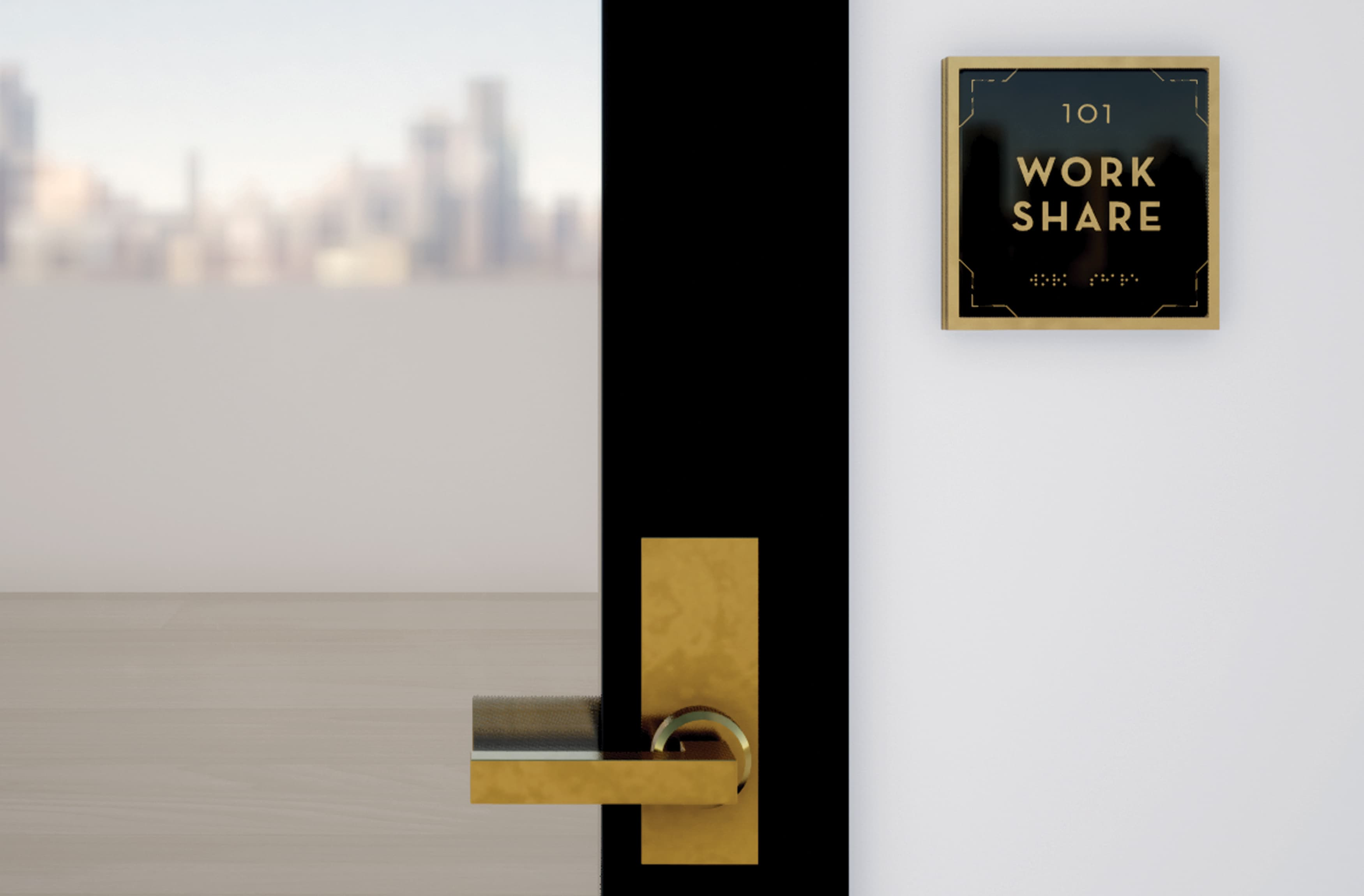 Alexan Bahay, an urban residential destination is located in the historic Echo Park, Los Angeles. Room identity wayfinding design.