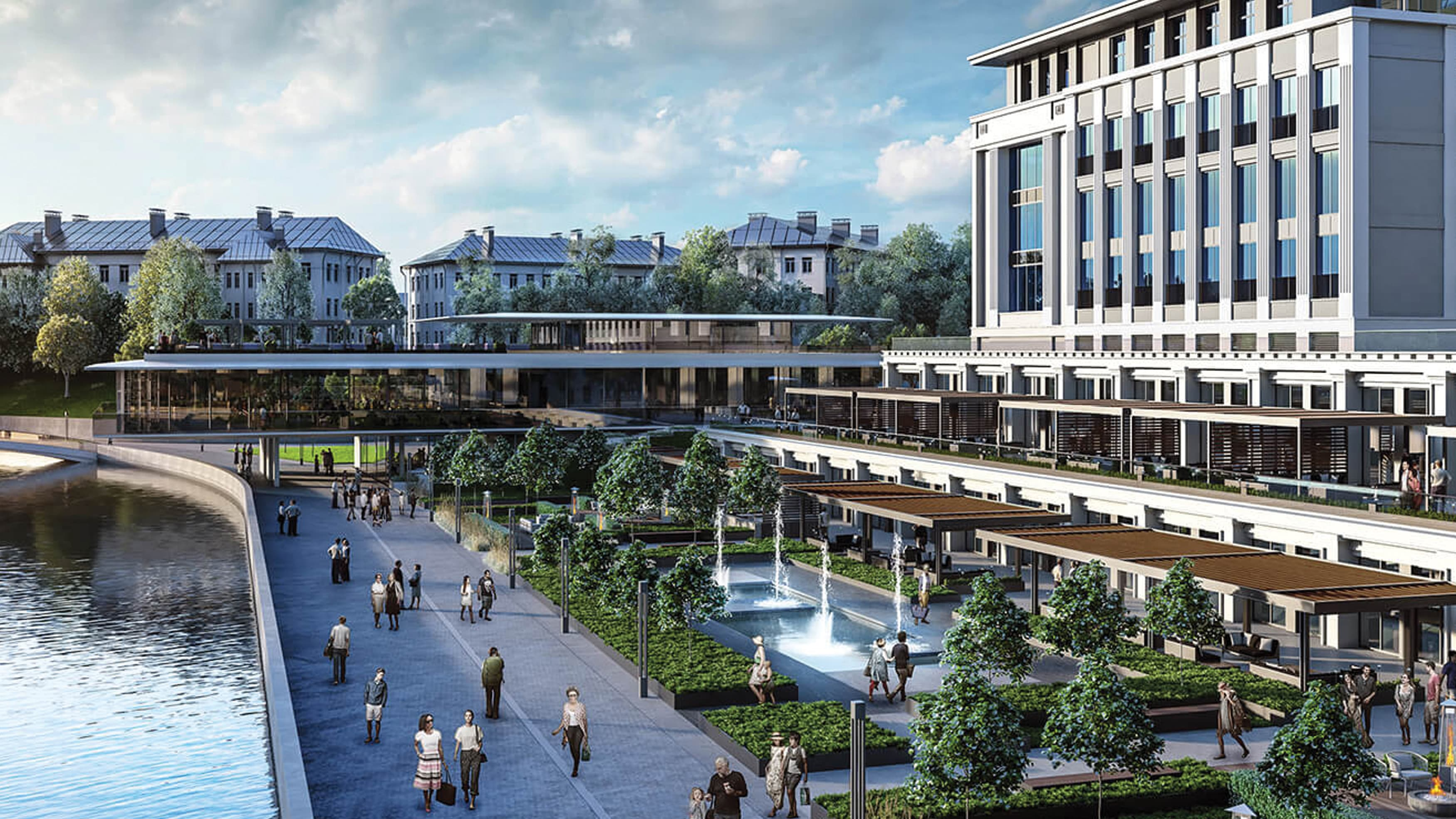 Architectural renderings for Viceroy Hotels and Resorts in Belarus.