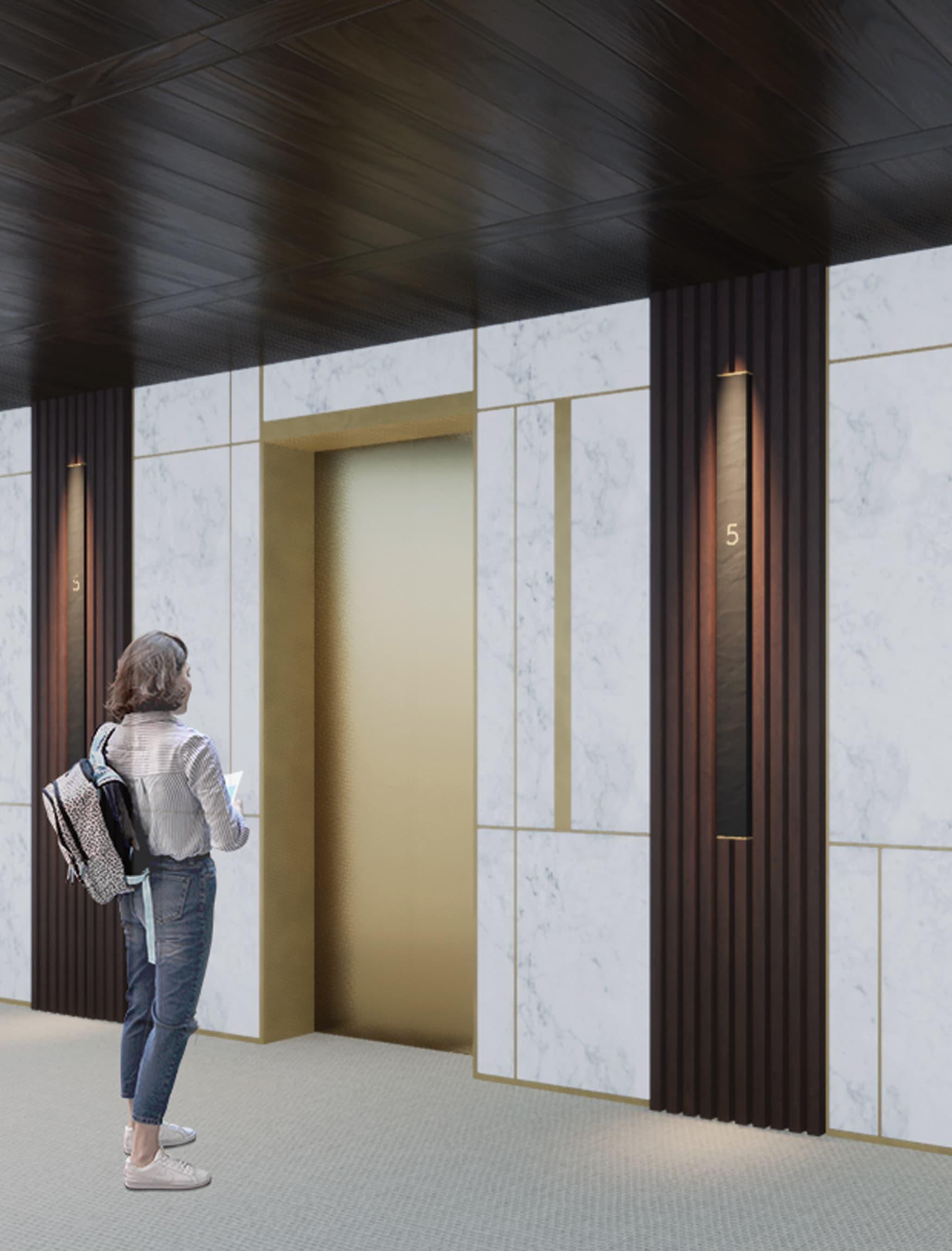 Viceroy Hotel and Resorts in Minsk, Belarus. Hospitality Design. Elevator Floor Level Identity Sign.