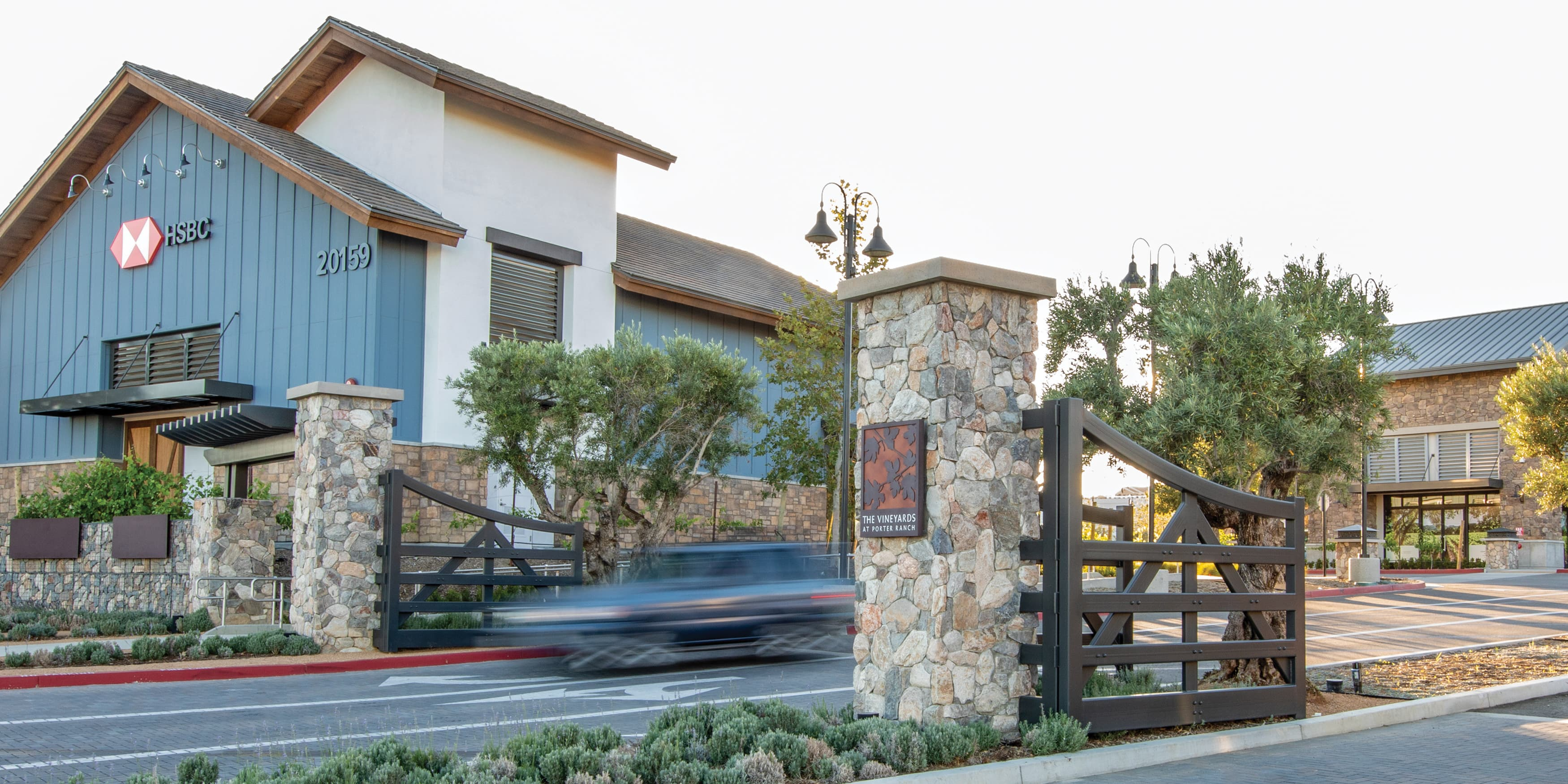The Vineyard at Porter Ranch. Retail project monumentation gateway..