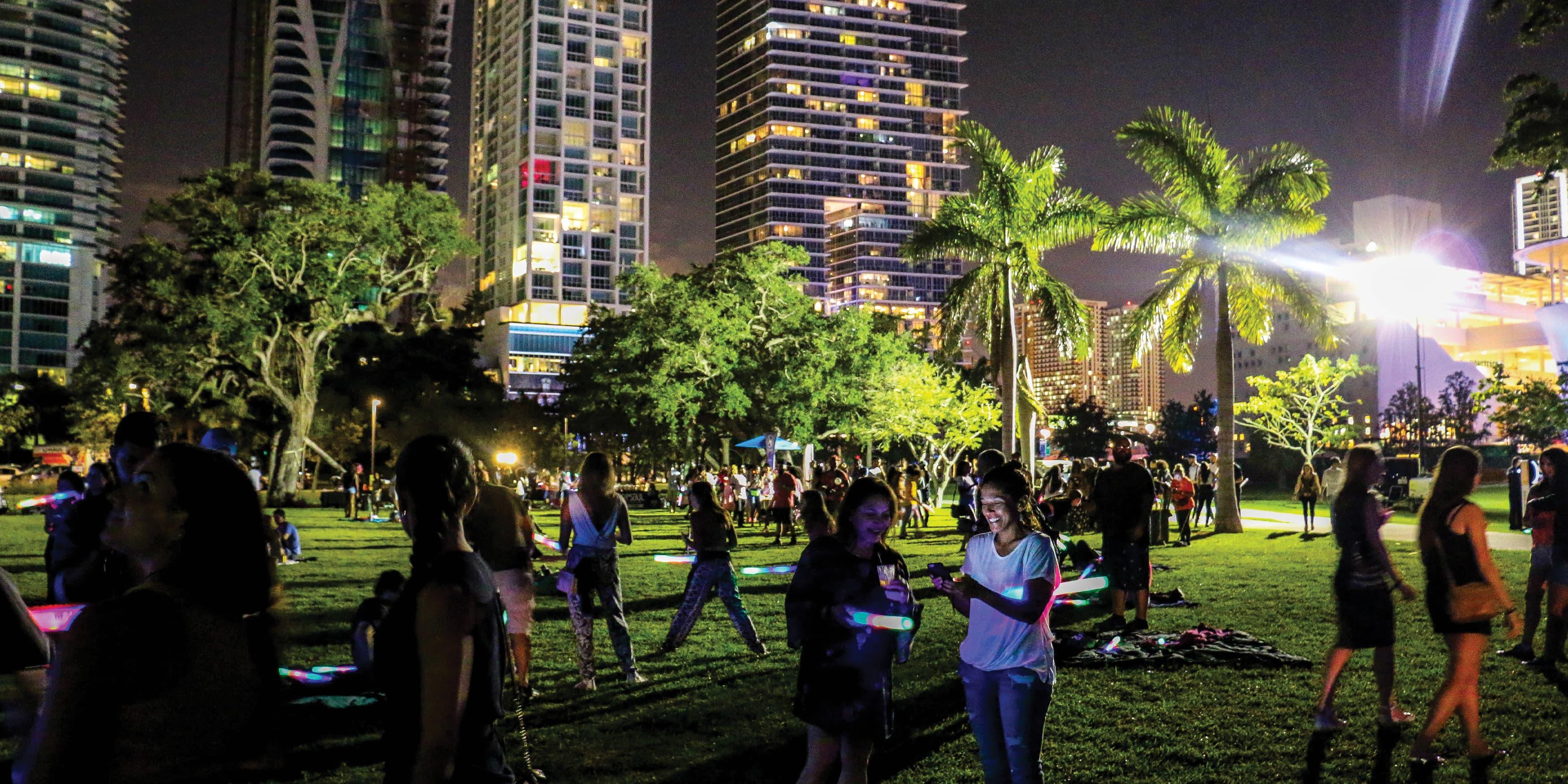 Miami, Florida social gathering