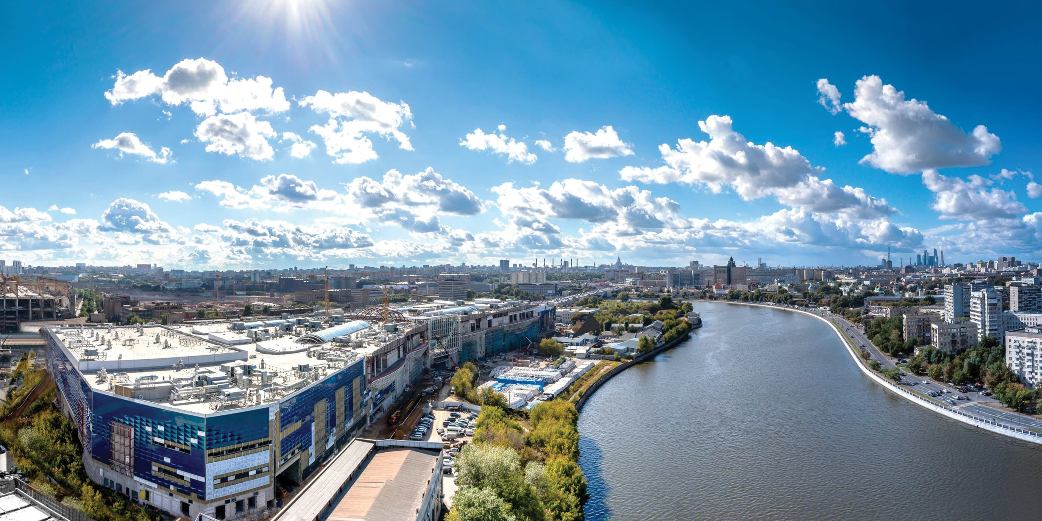 Aerial View of Moscow Riviera retail destination