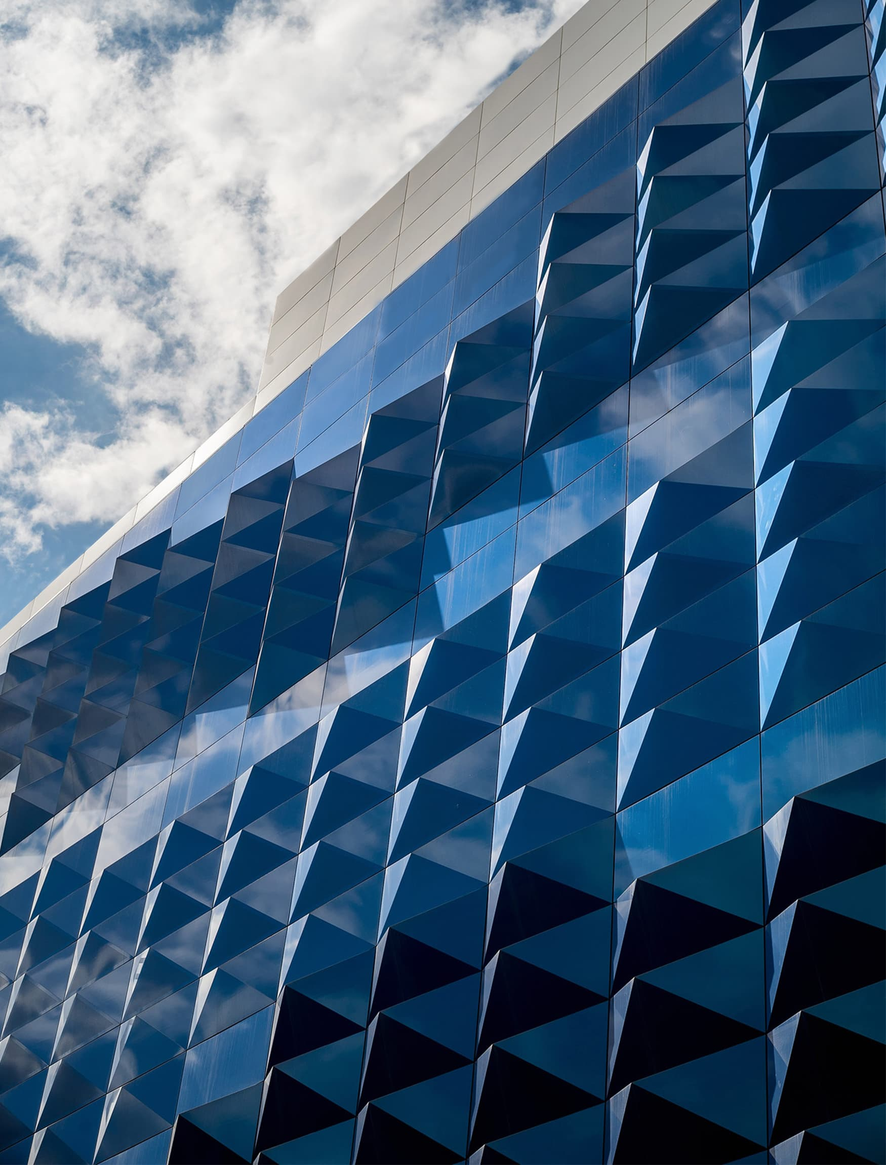 Moscow Riviera architectural geometric facade