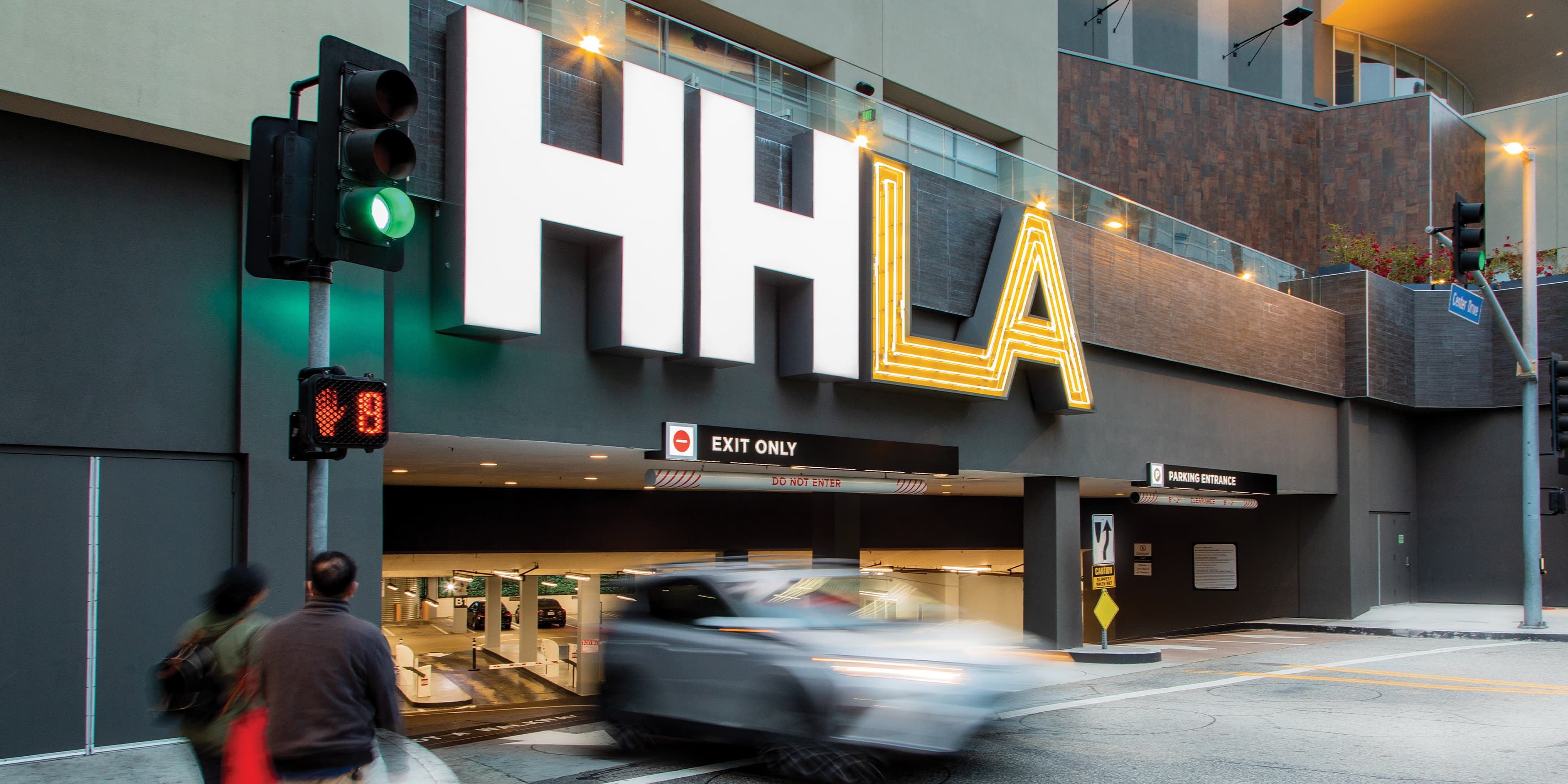 HHLA illuminated project identity signage