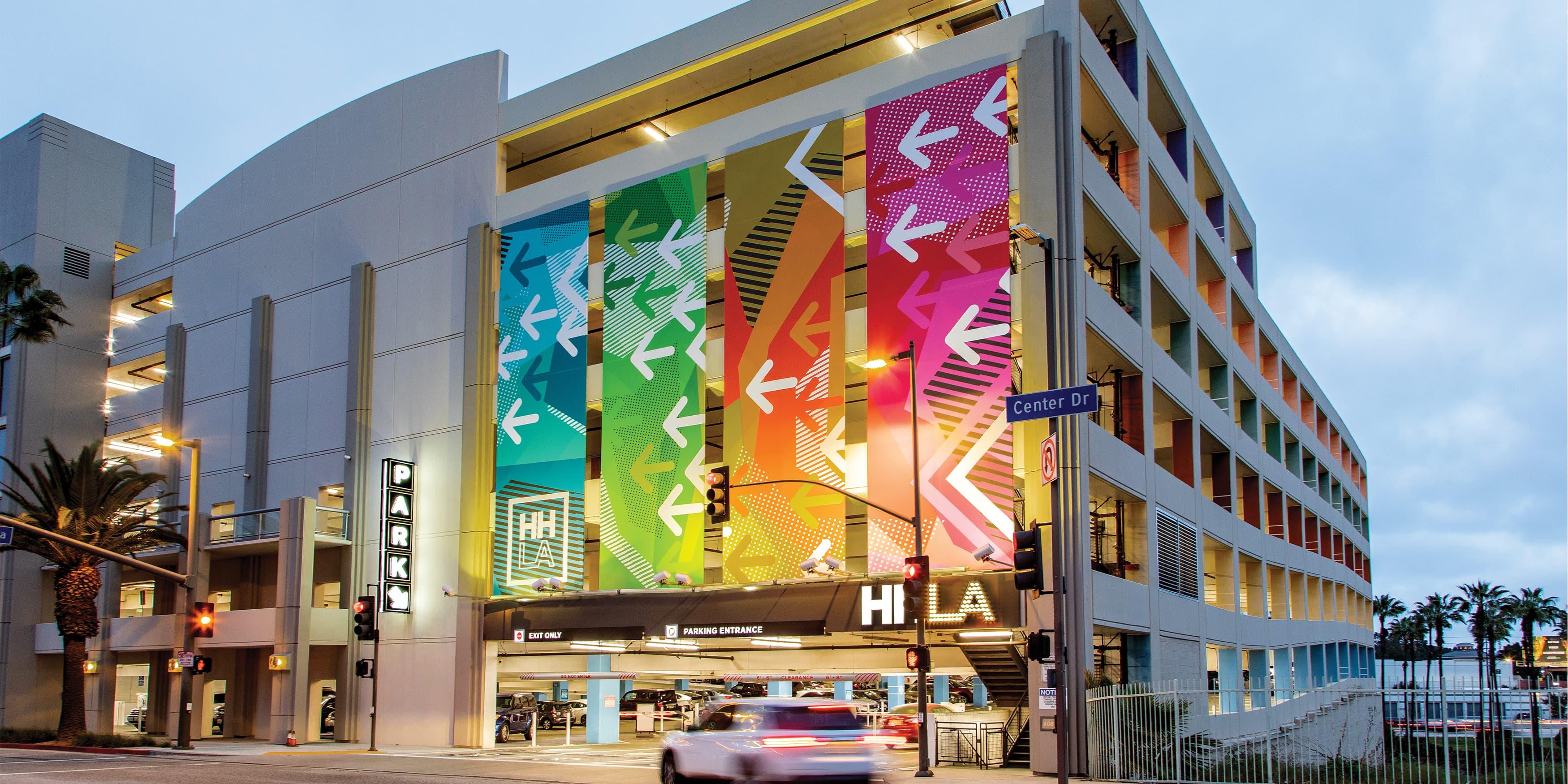 HHLA architectural graphic design and super-graphics