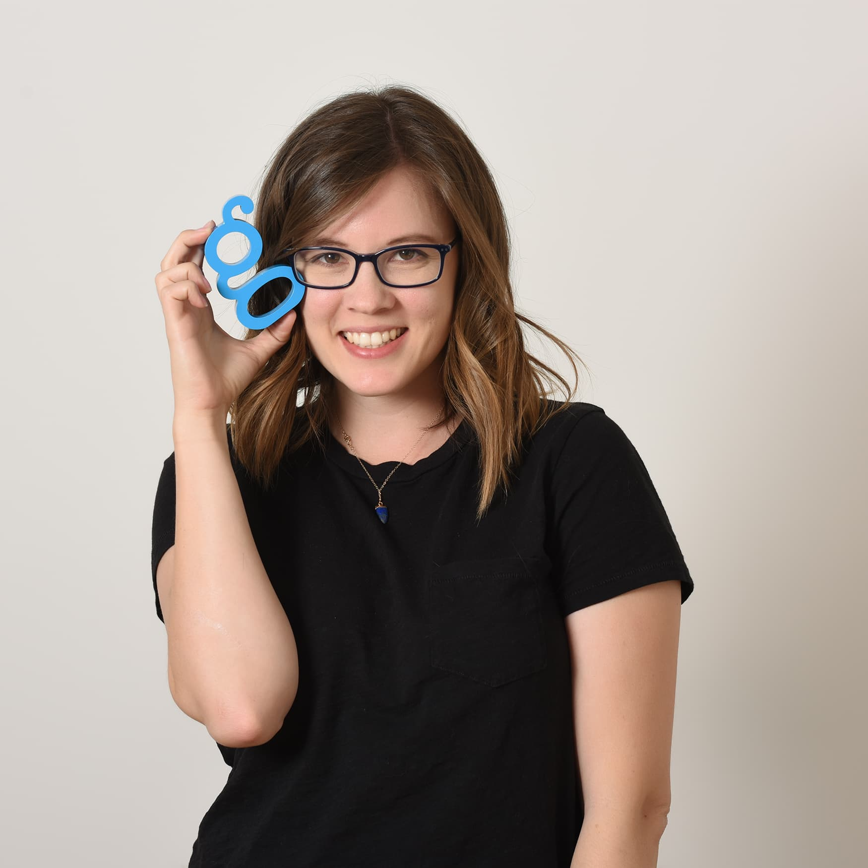 Kate Gilman, newly appointed AIGA OC board member, poses for a picture.