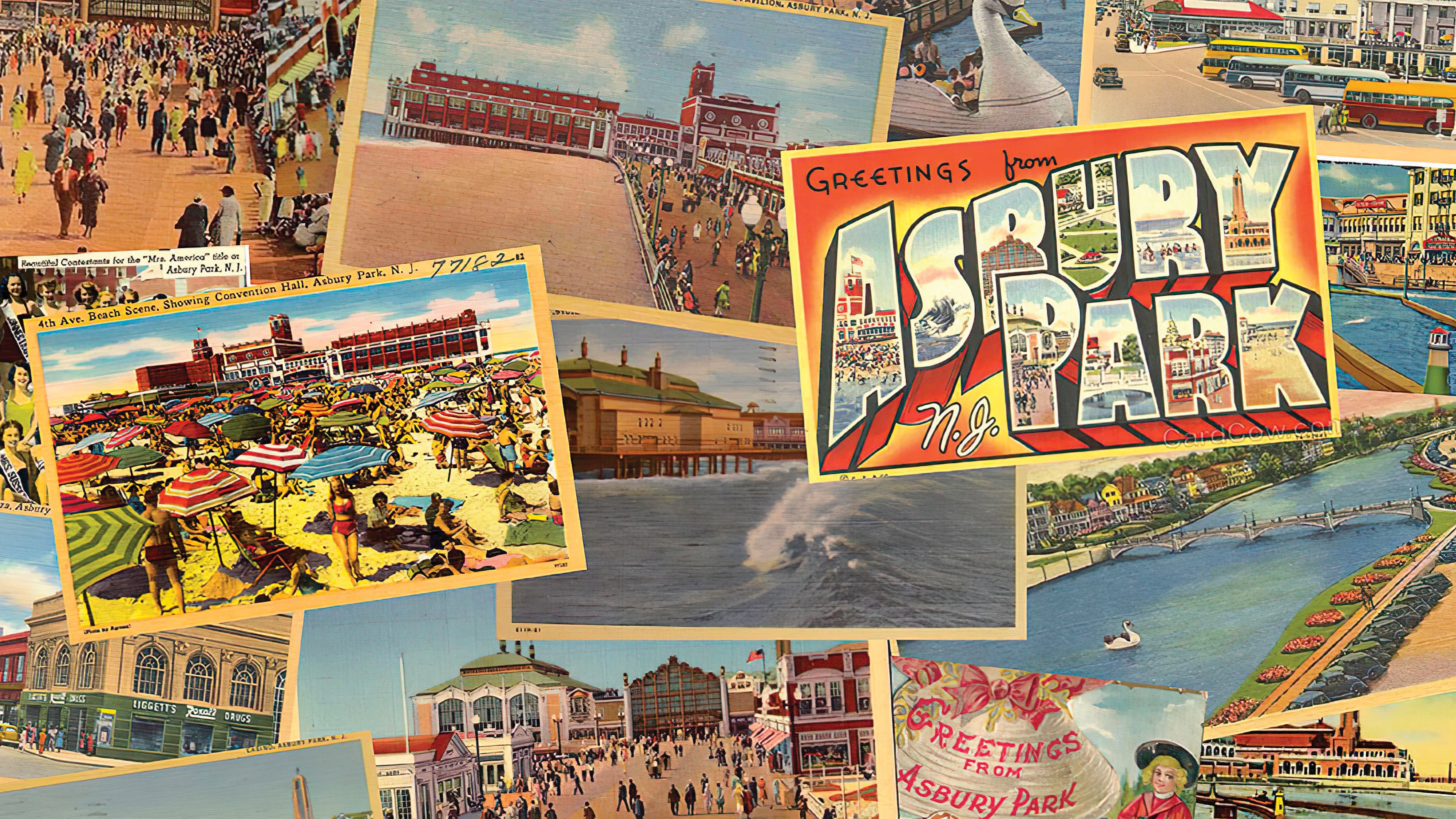 Asbury Park, New Jersey vintage-style postcard collection