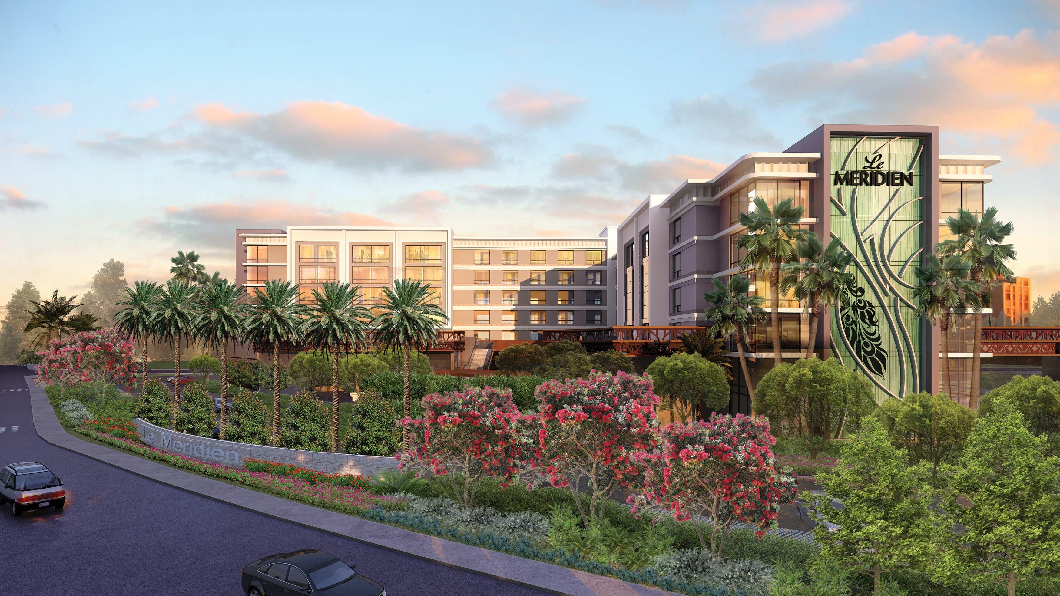 Le Meridien, a four star destination hotel, sits adjacent to the Santa Anita Race track in Arcadia California.