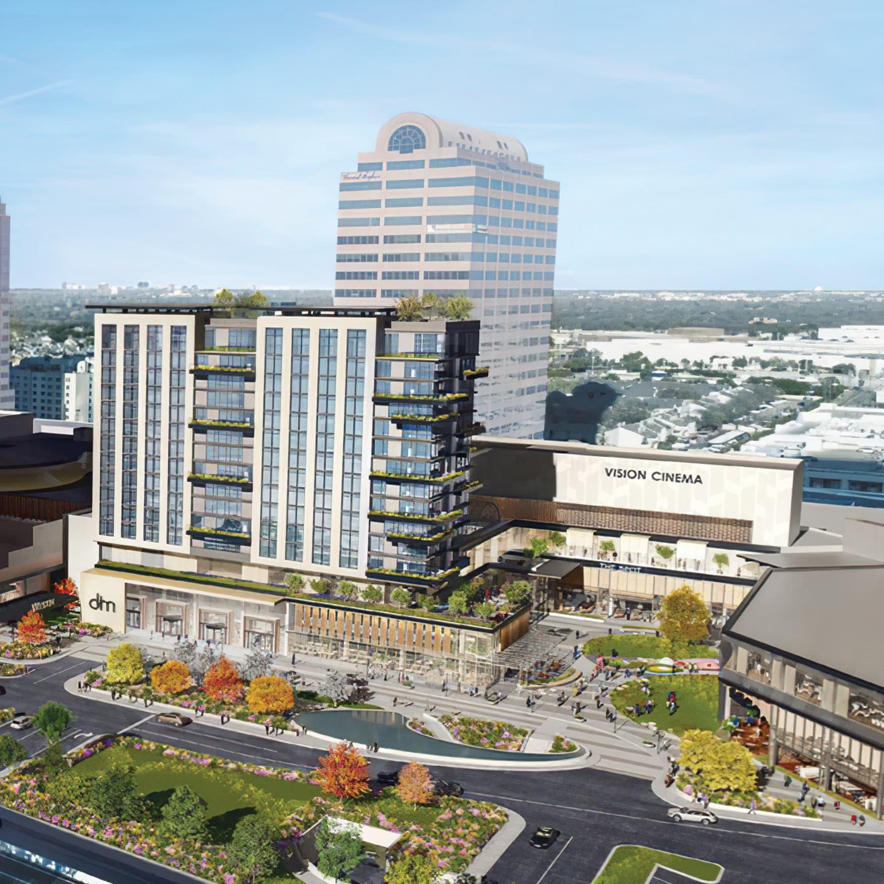 Architectural Rendering of Galleria located in Dallas, Texas