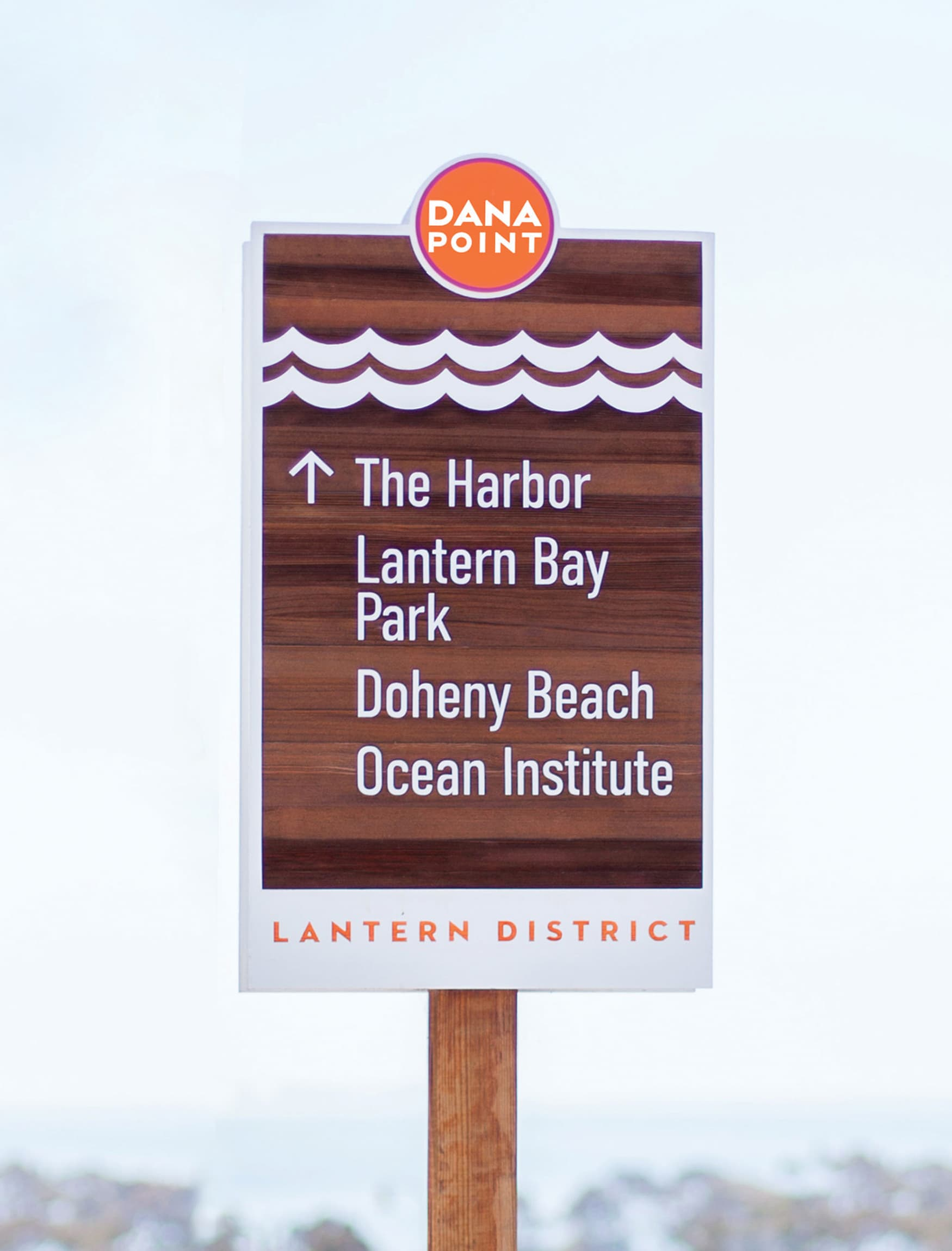 The City of Dana Point branded wayfinding system design
