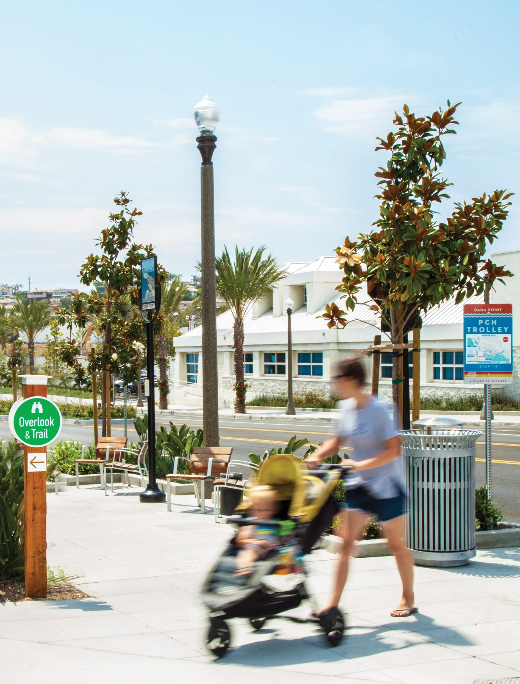 The City of Dana Point transit sign civic design and trail signage