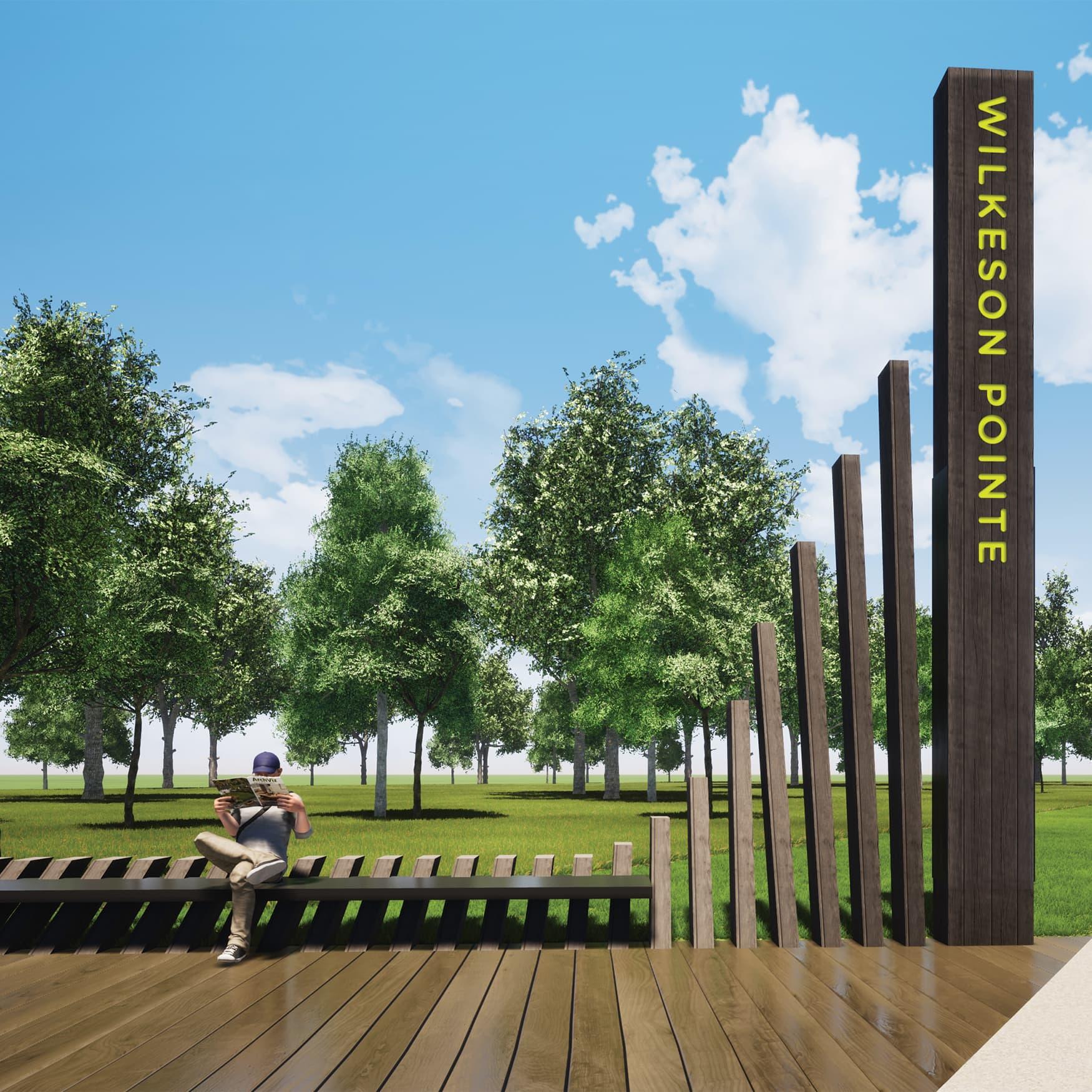 Buffalo Outer Harbor integrative environmental wayfinding design