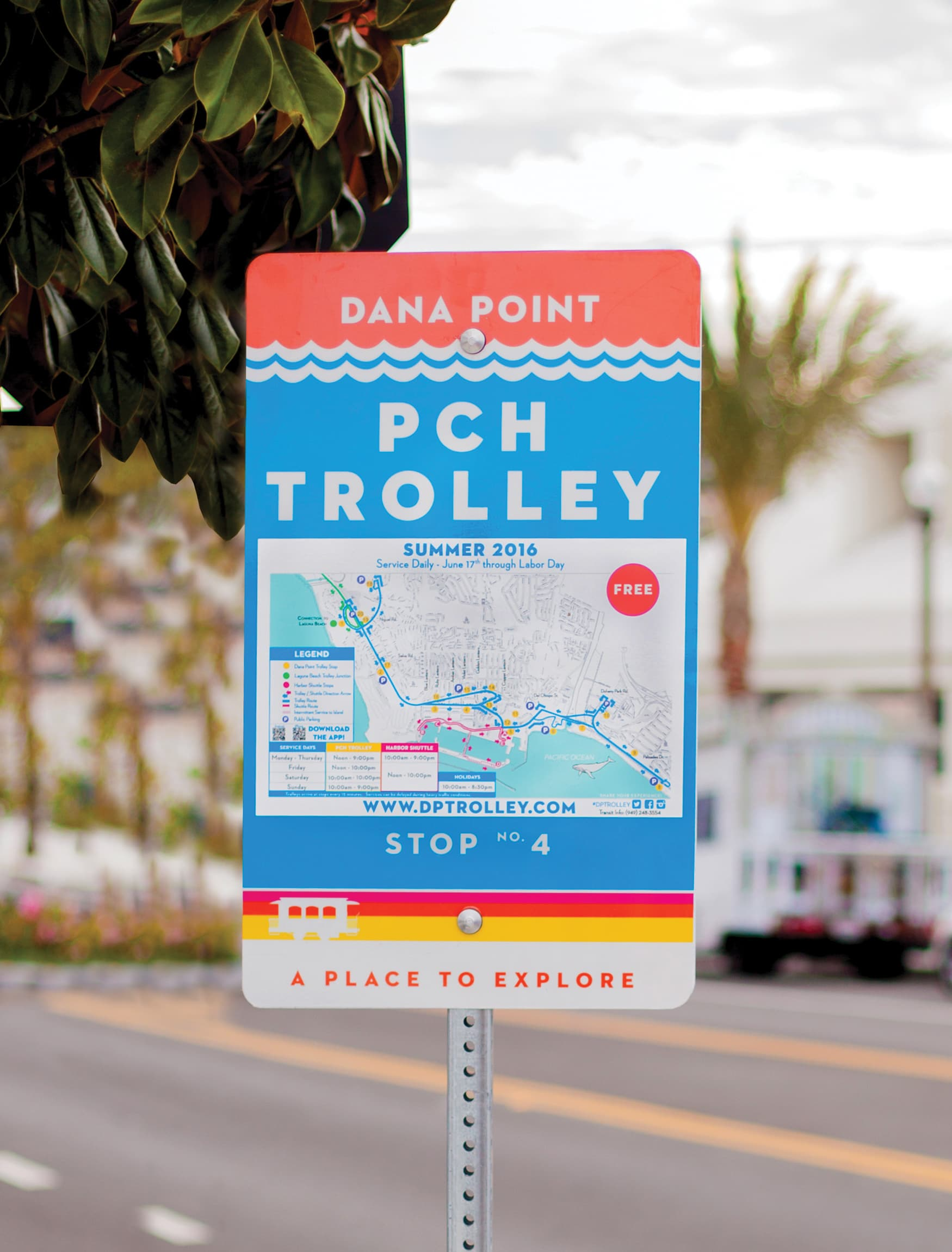 The City of Dana Point transit sign civic design