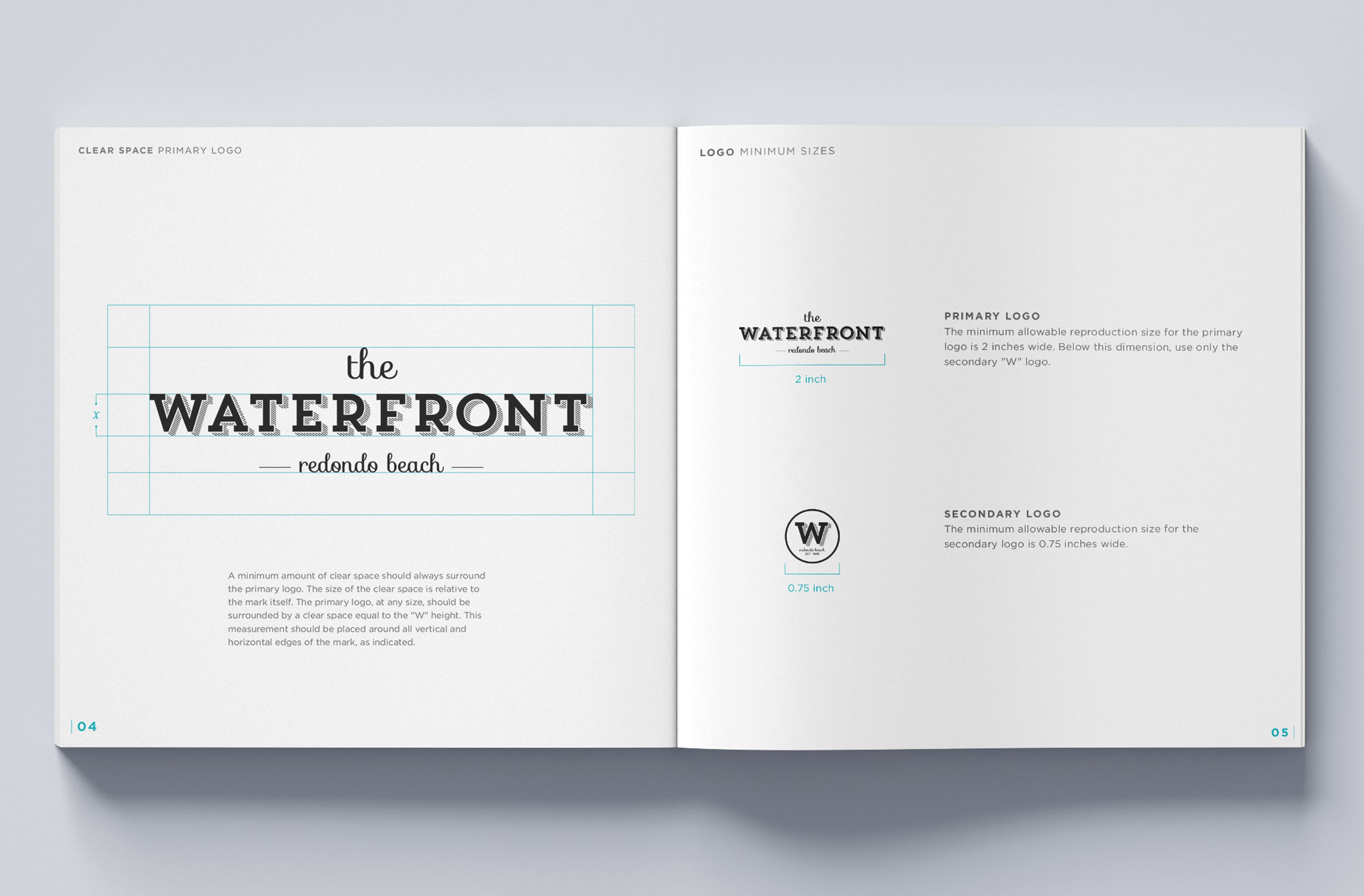 RSM Design worked with CenterCal Properties to develop a brand strategy and voice for The Waterfront, a mixed-use project in Redondo Beach, California. Brand Style Guide.