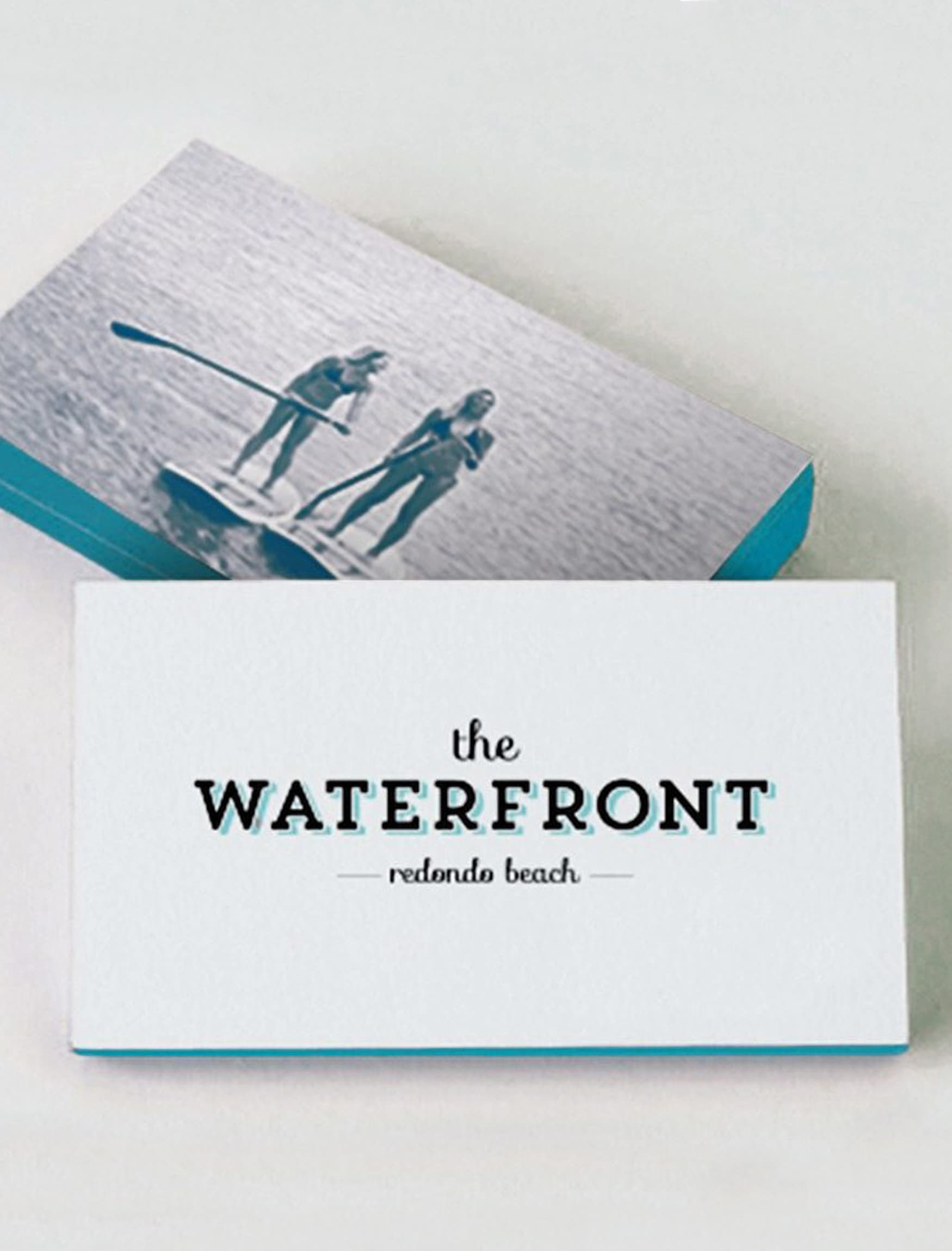 RSM Design worked with CenterCal Properties to develop a brand strategy and voice for The Waterfront, a mixed-use project in Redondo Beach, California. Branding and Logo Design.