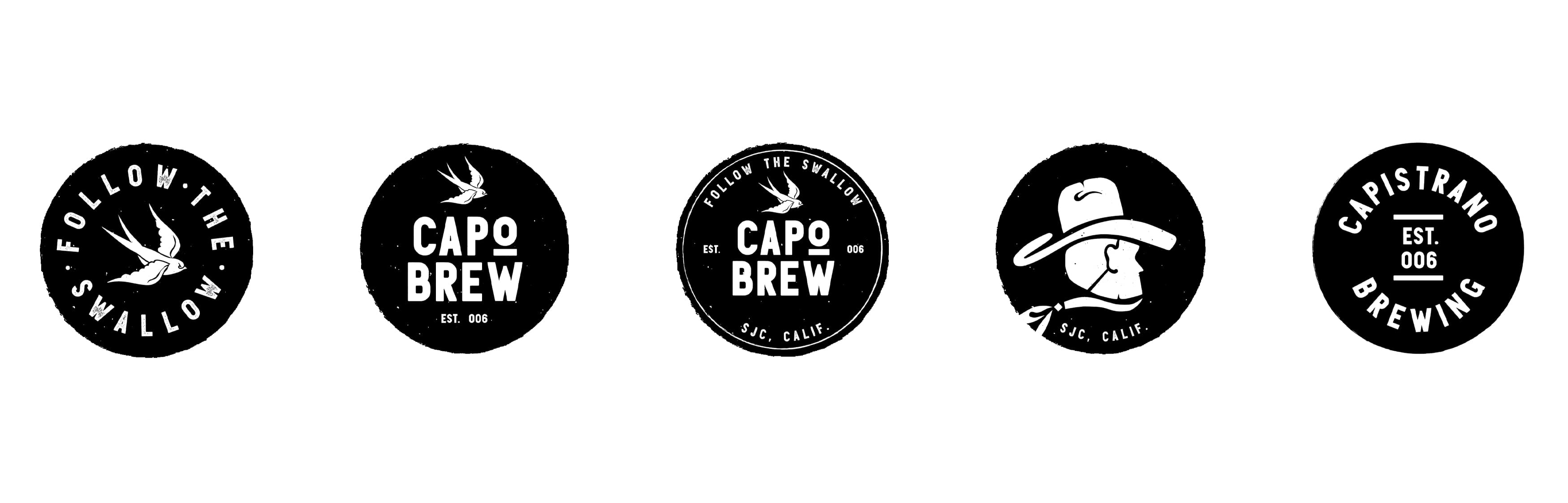 Capo Brew, a brewery located in the historic San Juan Capistrano, California, worked with RSM Design to craft a brand identity that conveyed its historic roots and cowboy personality. Secondary brand buttons.