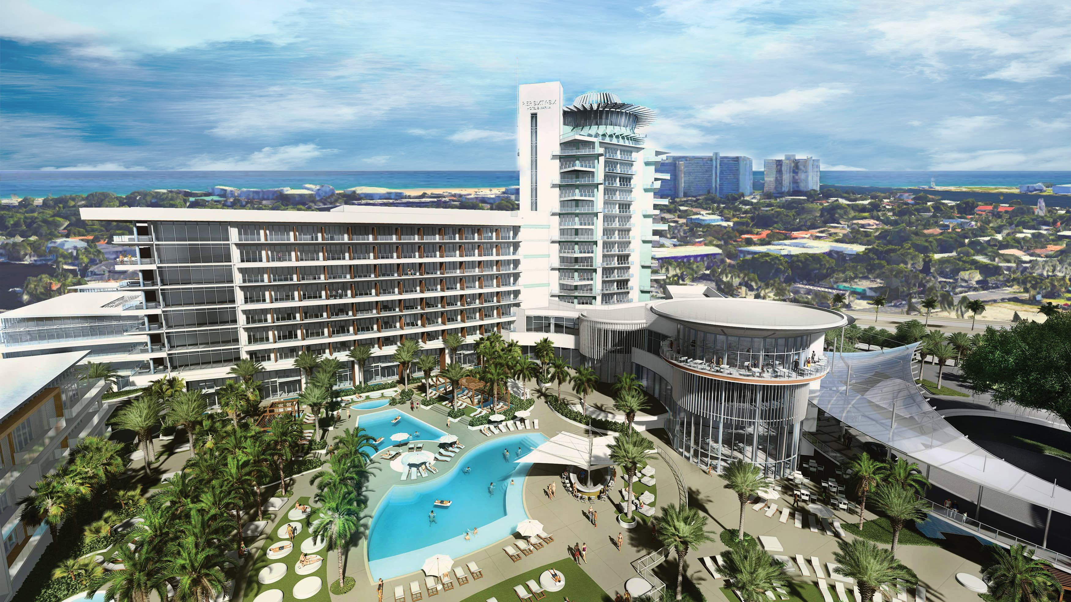 Pier Sixty-Six Hotel & Marina, a mixed-use residential development in Fort Lauderdale, Florida.