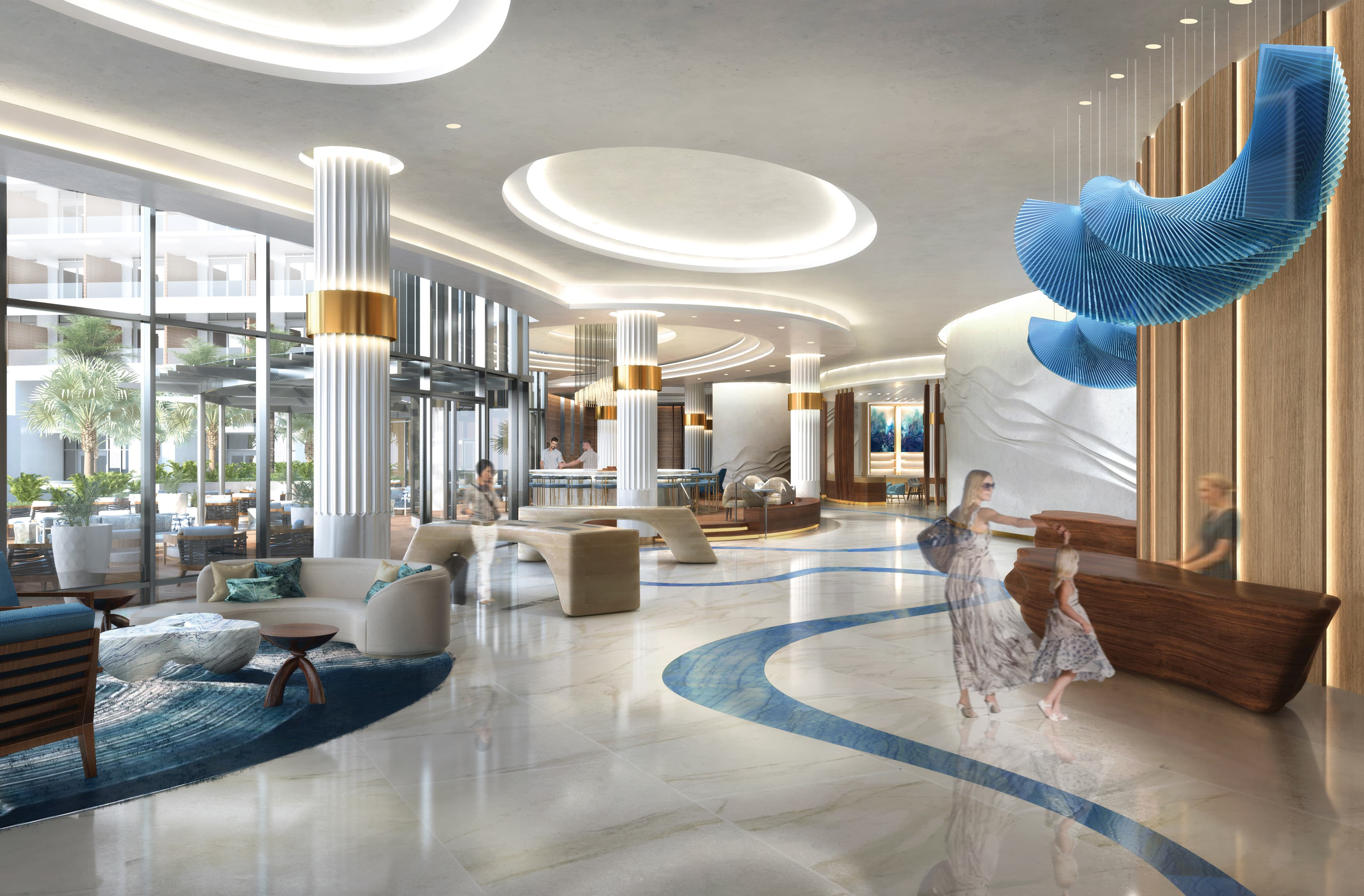 Pier Sixty-Six Hotel & Marina. Hospitality Design. Lobby Design. luxury resort destination, marina and residential mixed-use development.