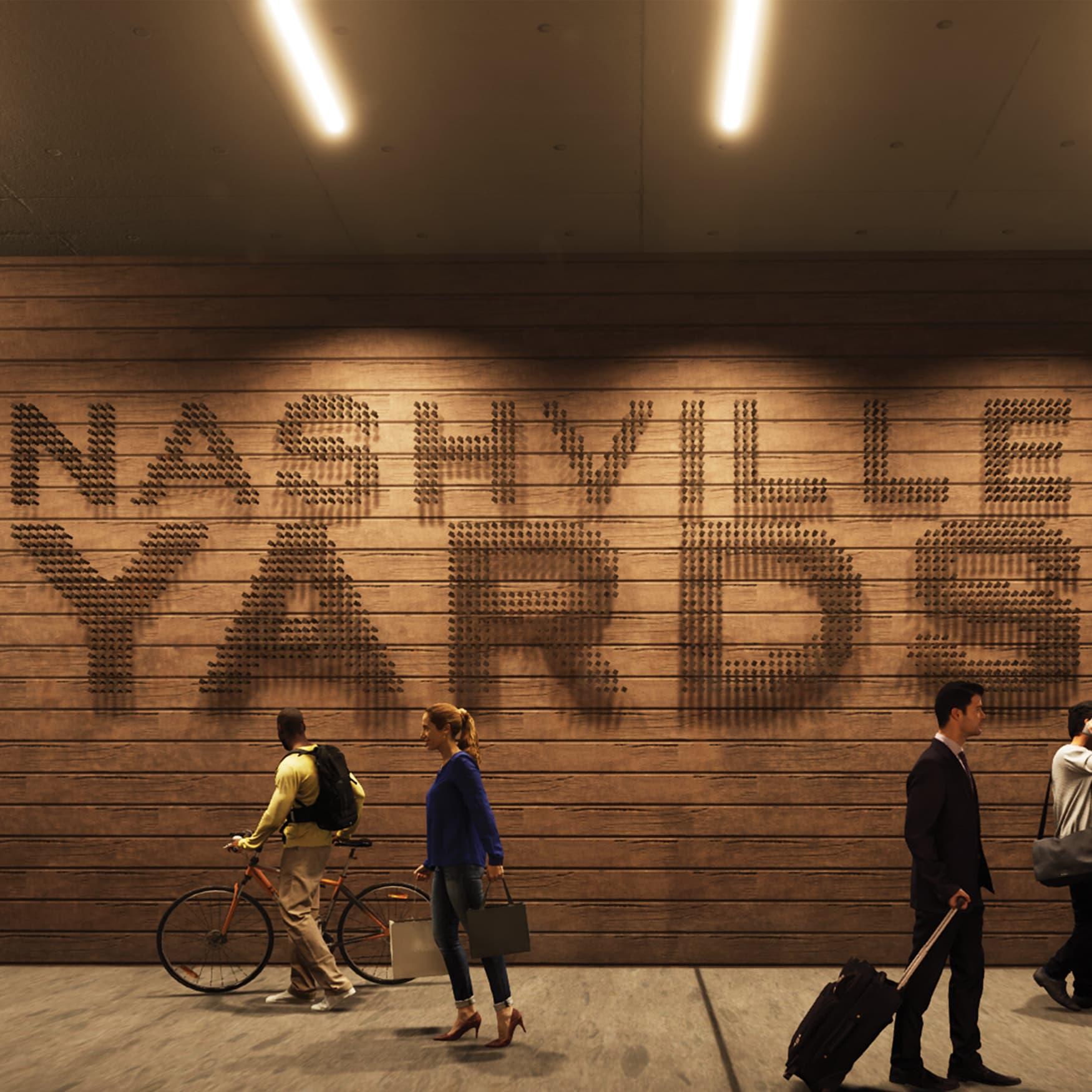 Artful Nashville Yards identity signage by RSM Design