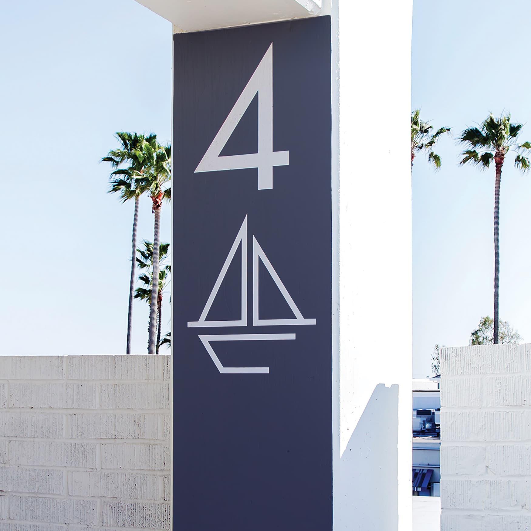 Lido Marina parking identity graphics by RSM Design