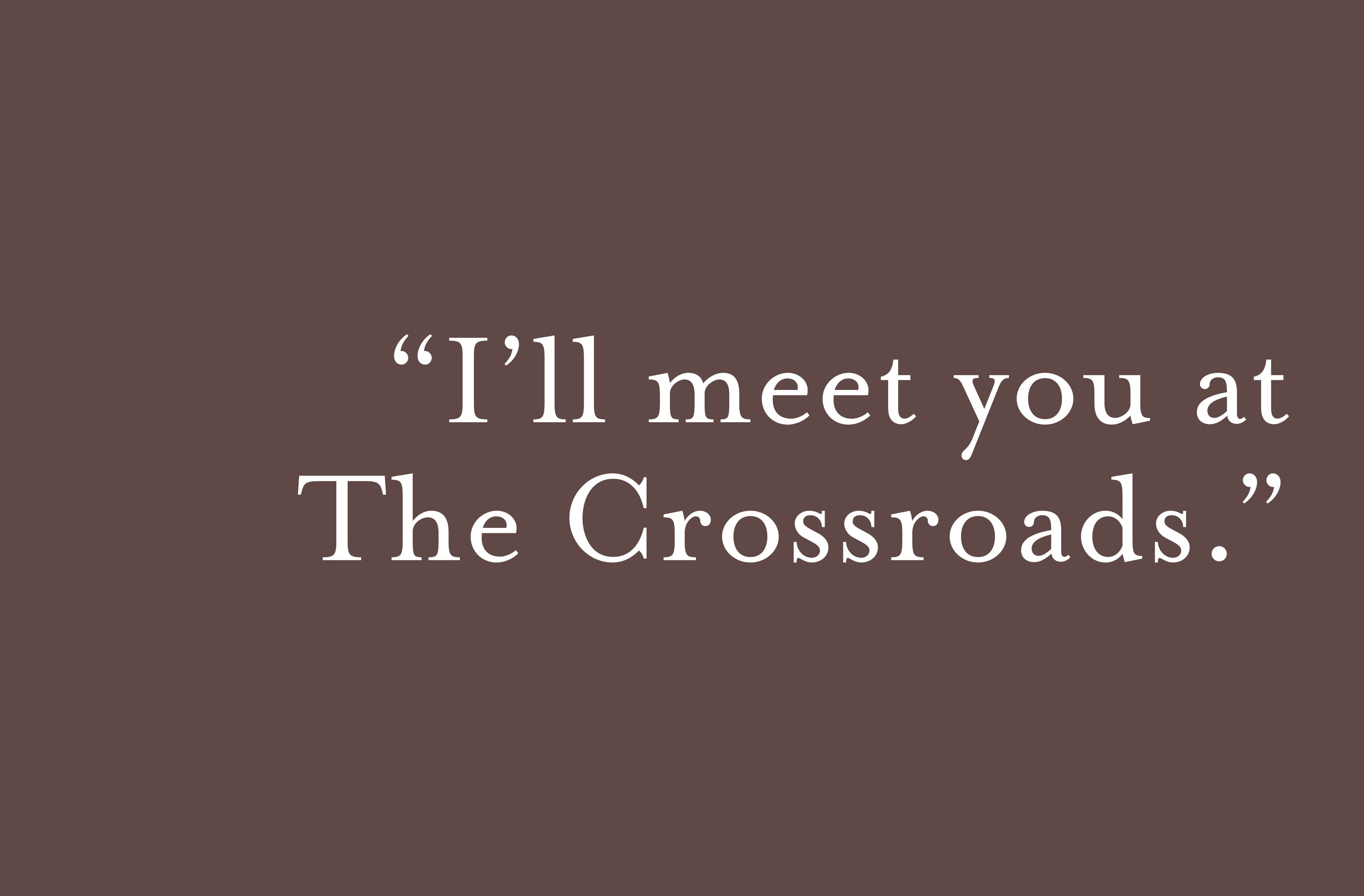 The Crossroads, a mixed-use development located in Omaha, Nebraska. Branding and Logo Design.