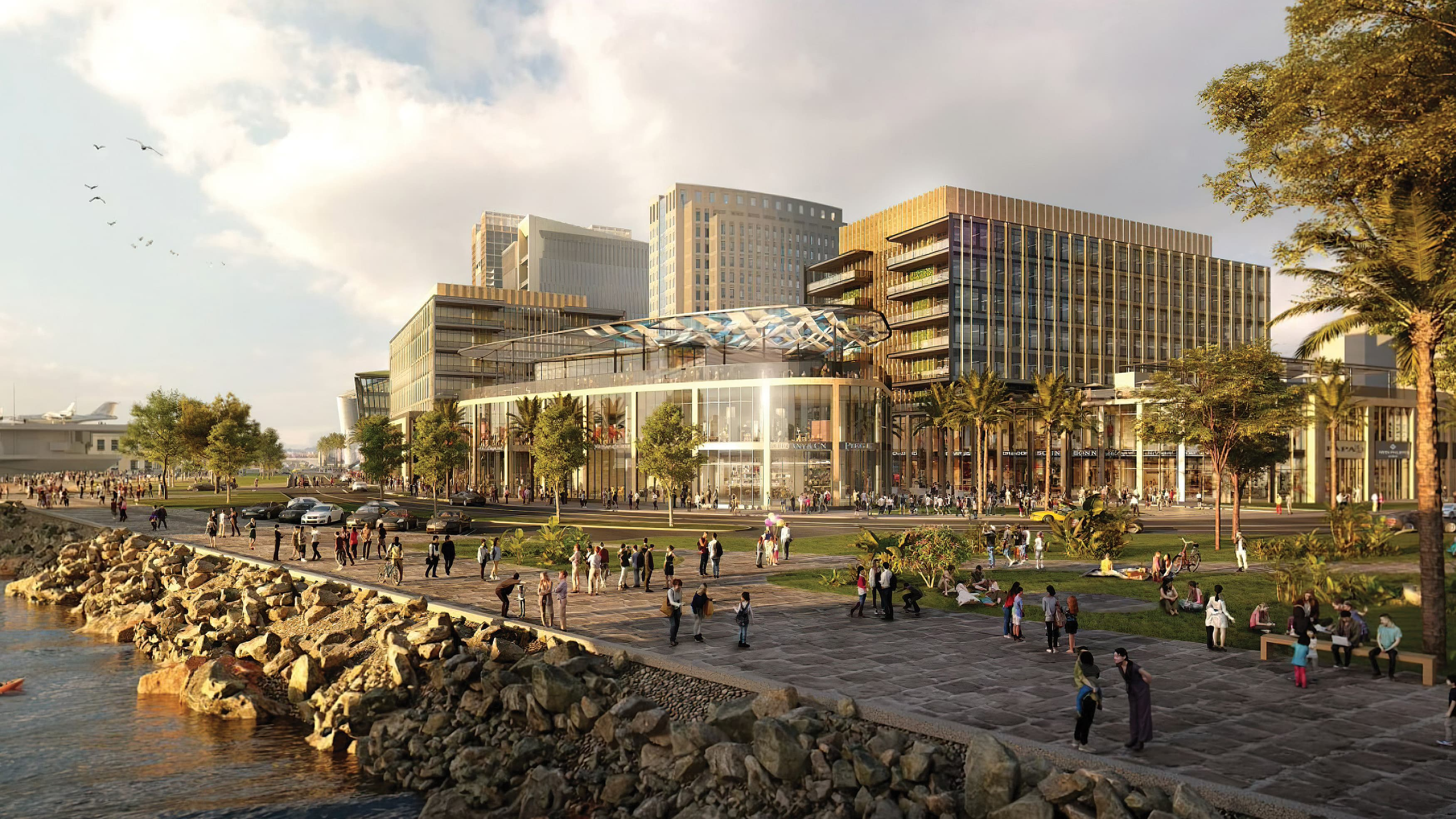 The Research and Development District (RaDD) on the waterfront of downtown San Diego, California.