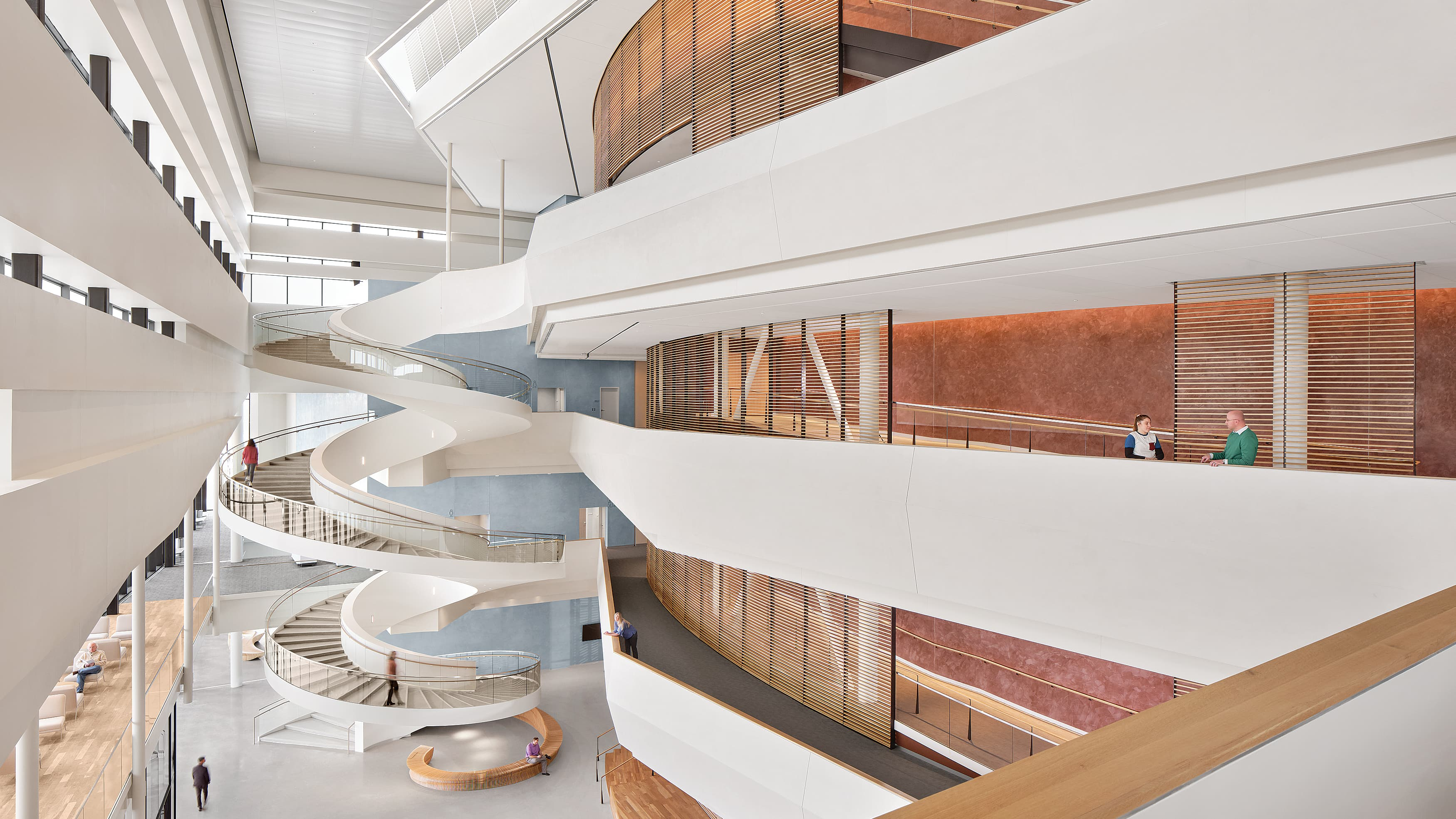 Interior of The Buddy Holly Hall of Performing Arts & Sciences in Lubbock, Texas.