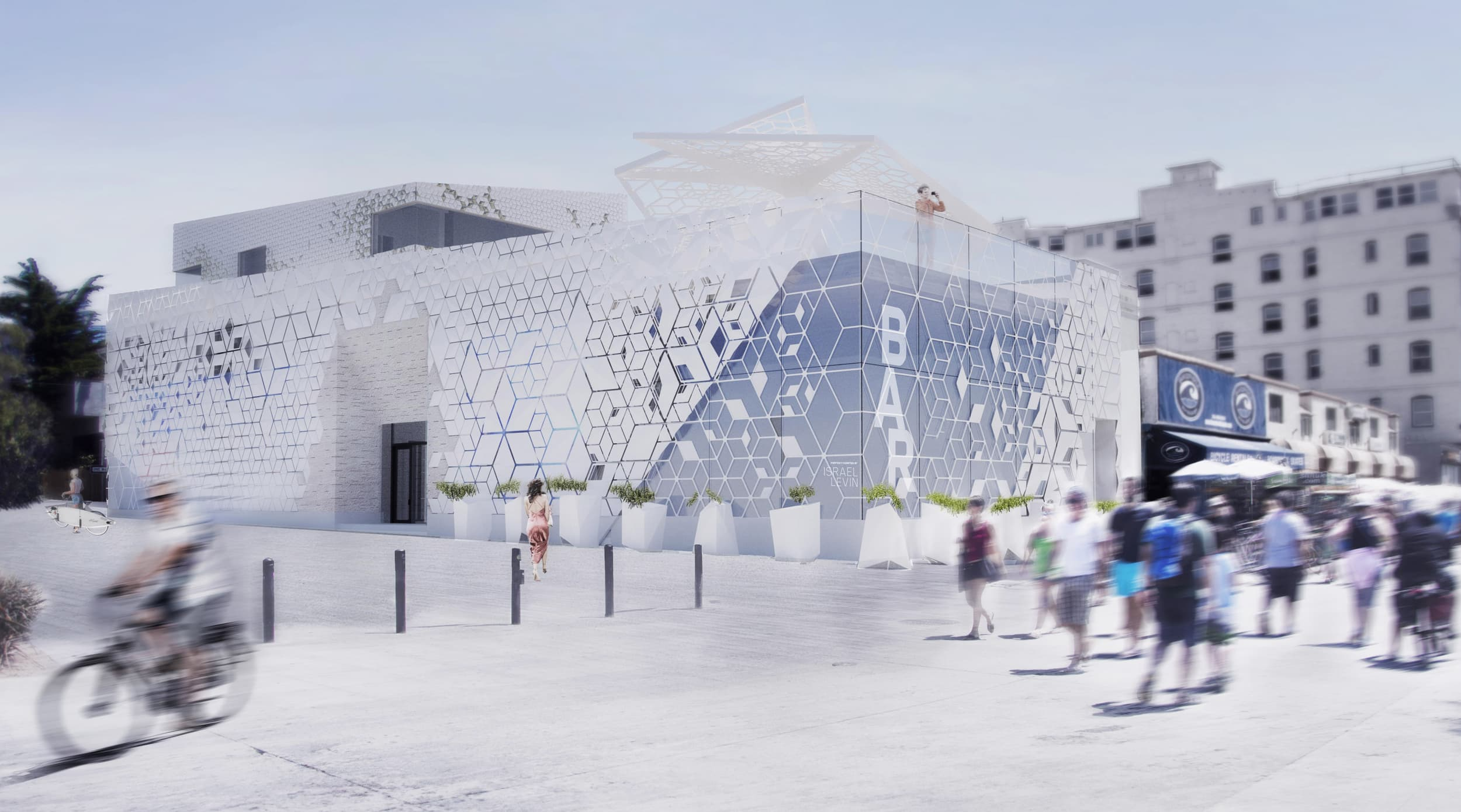 Day time rendering of The BAR Center at the Beach in Venice, California