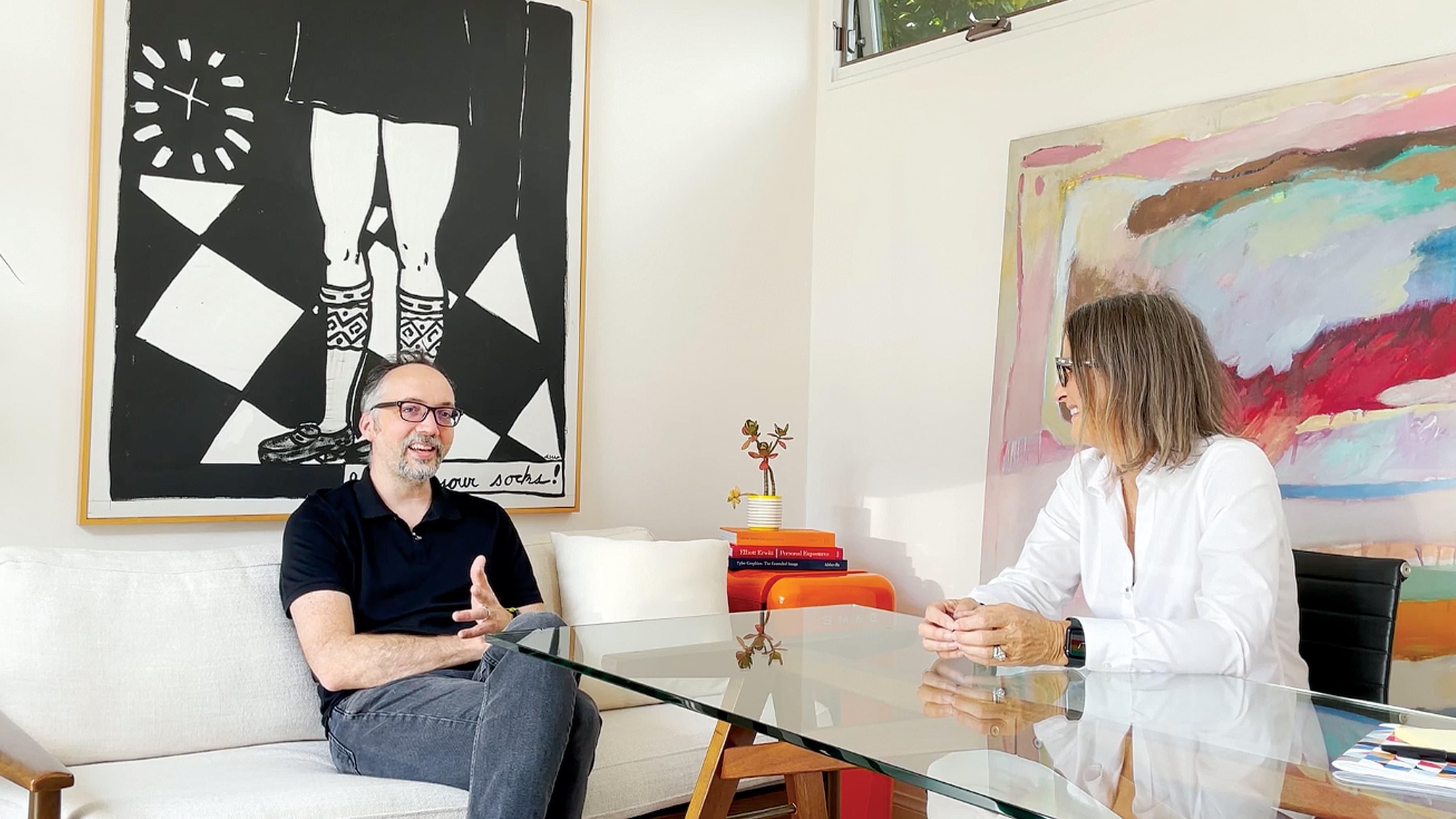 Cody Clark and Suzanne Redmond Schwartz at the RSM Design Studio