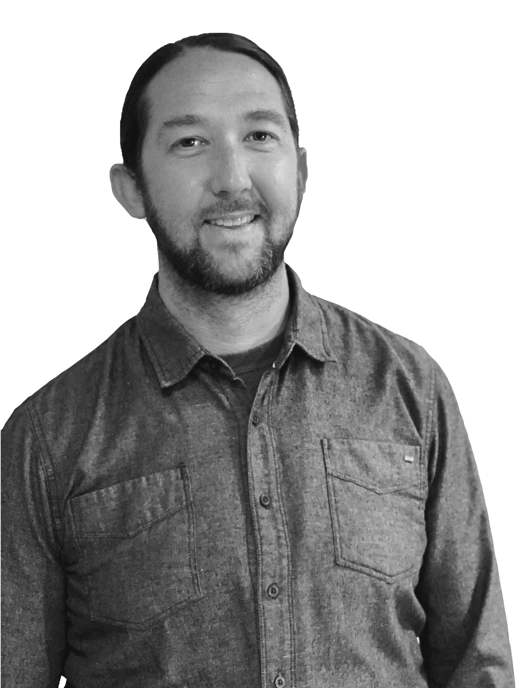 Steve Luoma Associate at RSM Design headshot in black and white