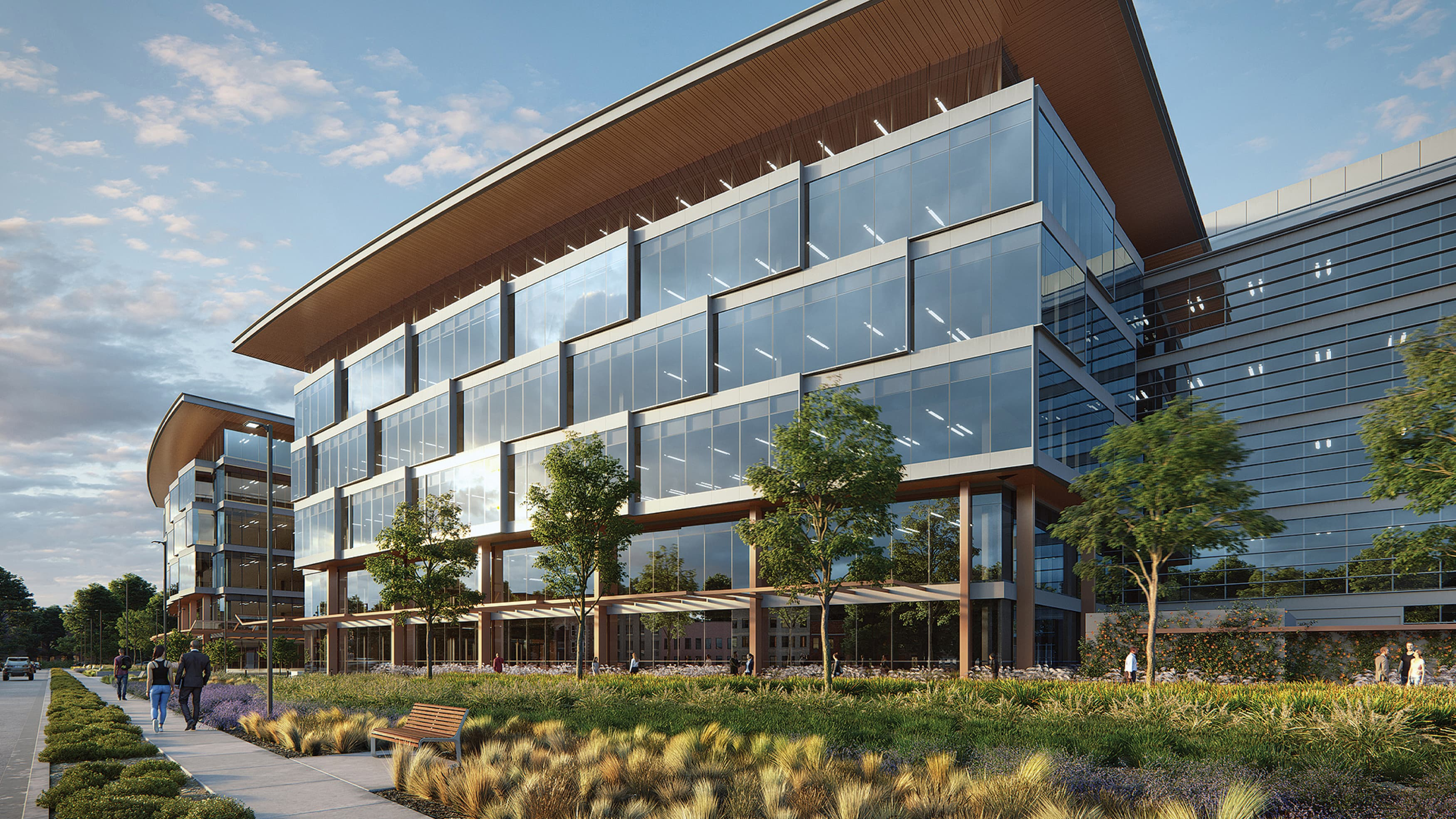 Exterior rendering of Alexandria Life Science Campus in San Carlos, California.